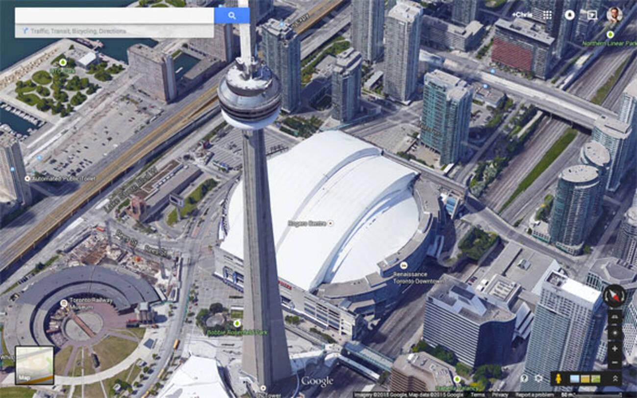 Toronto Gets The D Treatment On Google Maps - Google 3d maps live