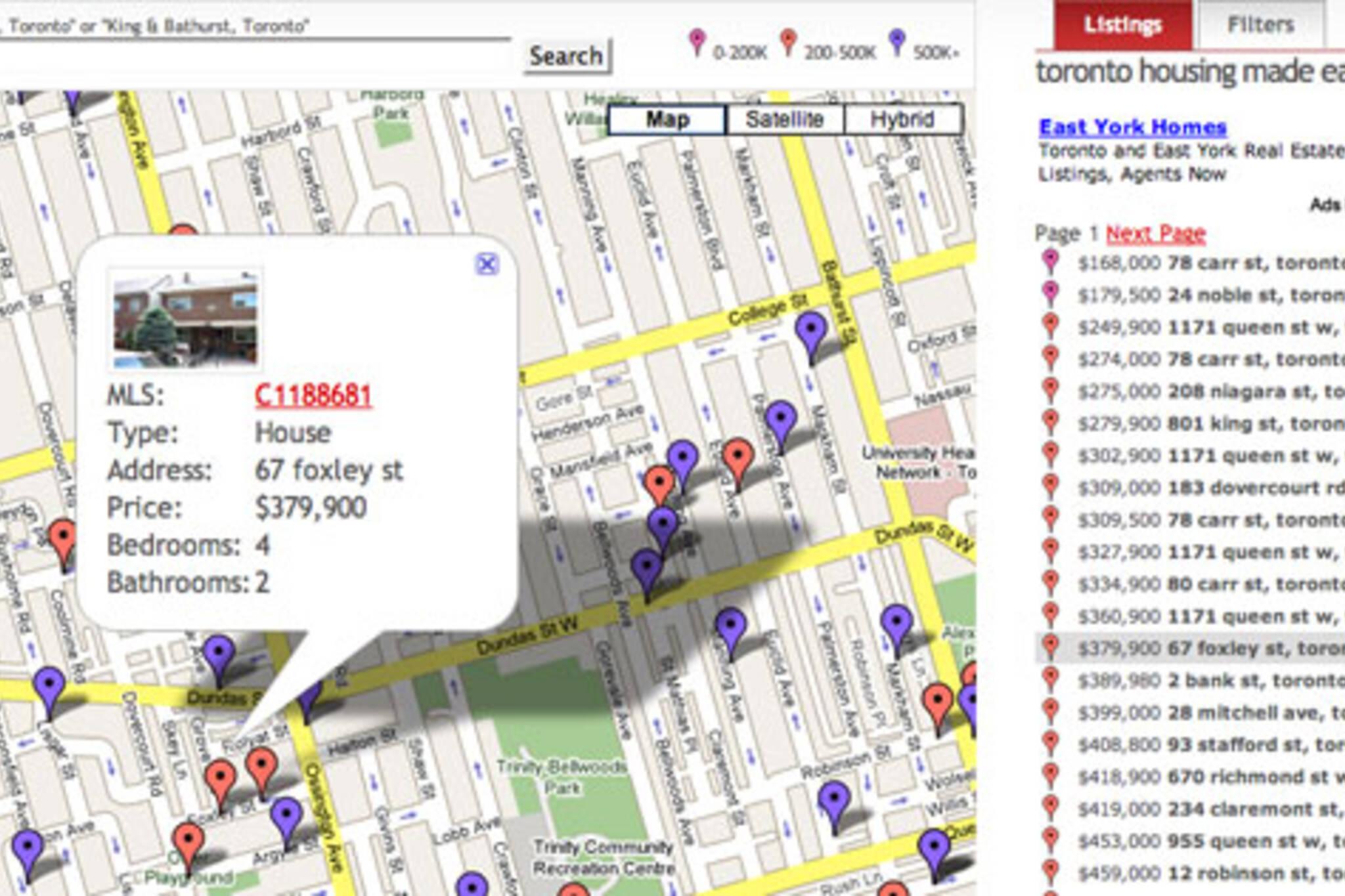 New MLS, Google Maps Mashup