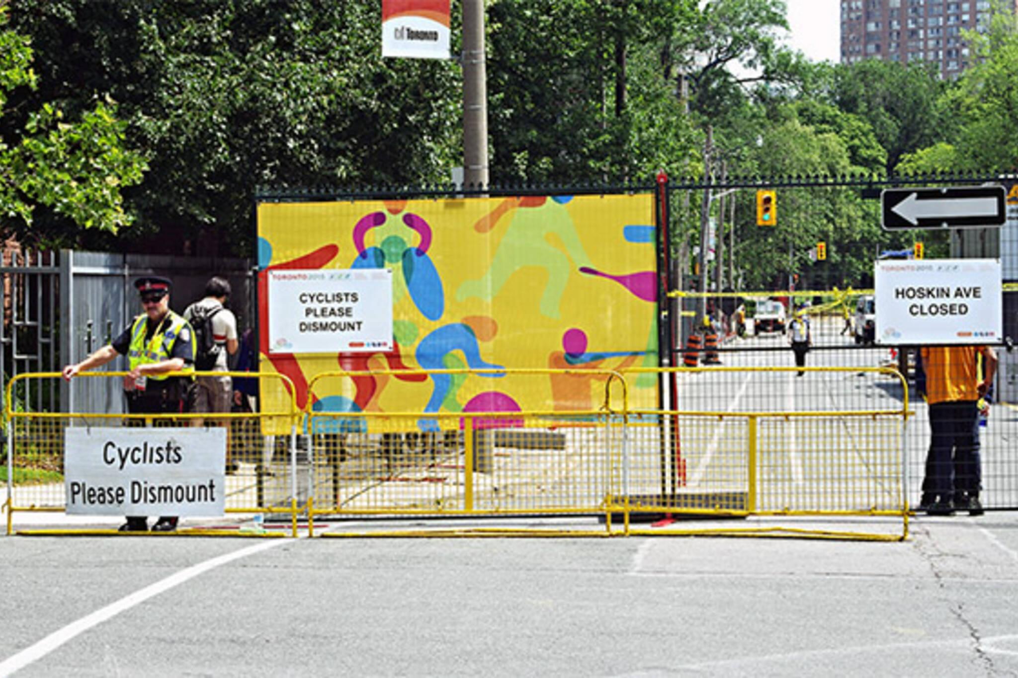 pan am games road closures