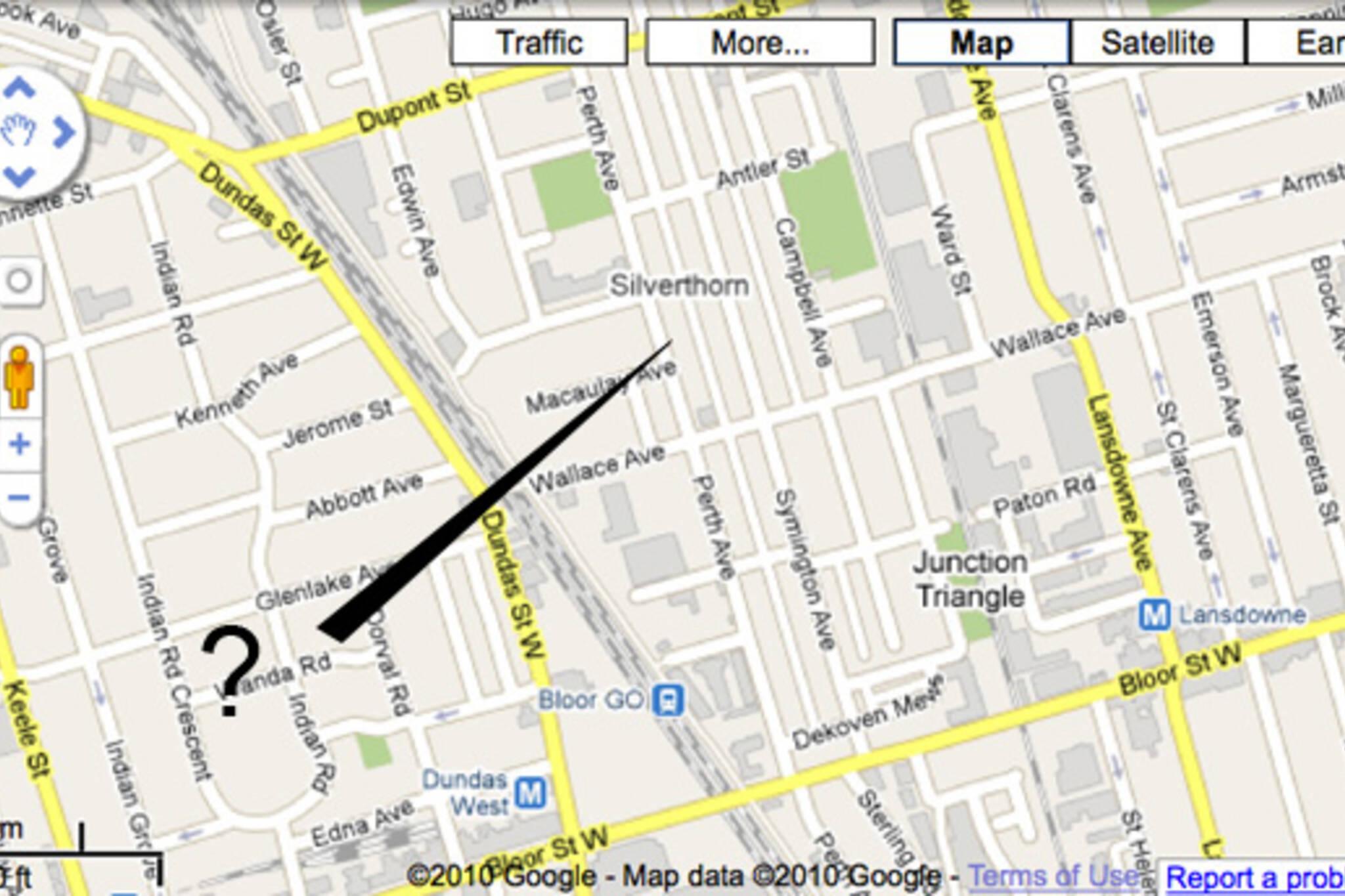 google maps error toronto