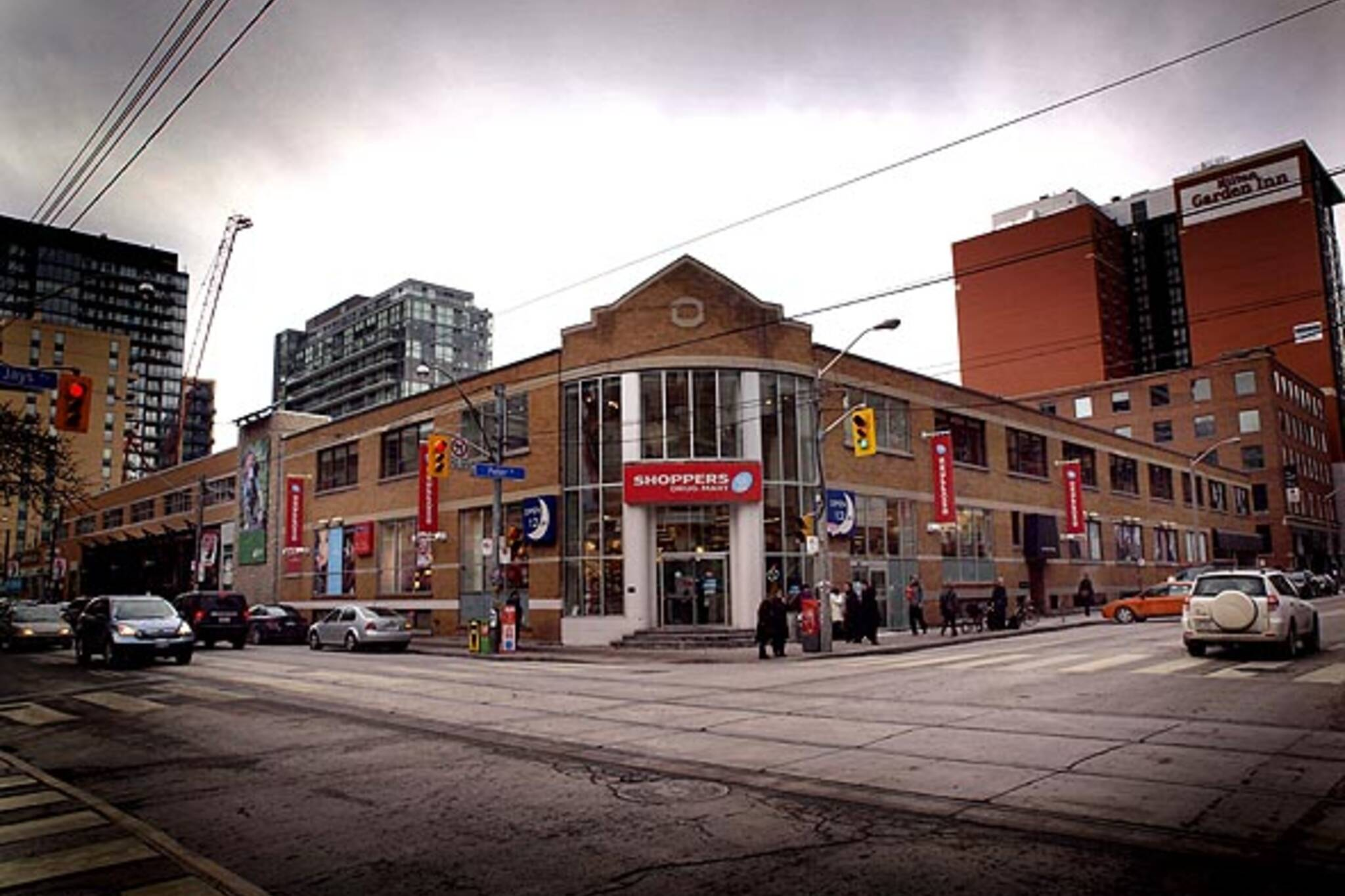 Northwest corner of King West and peter