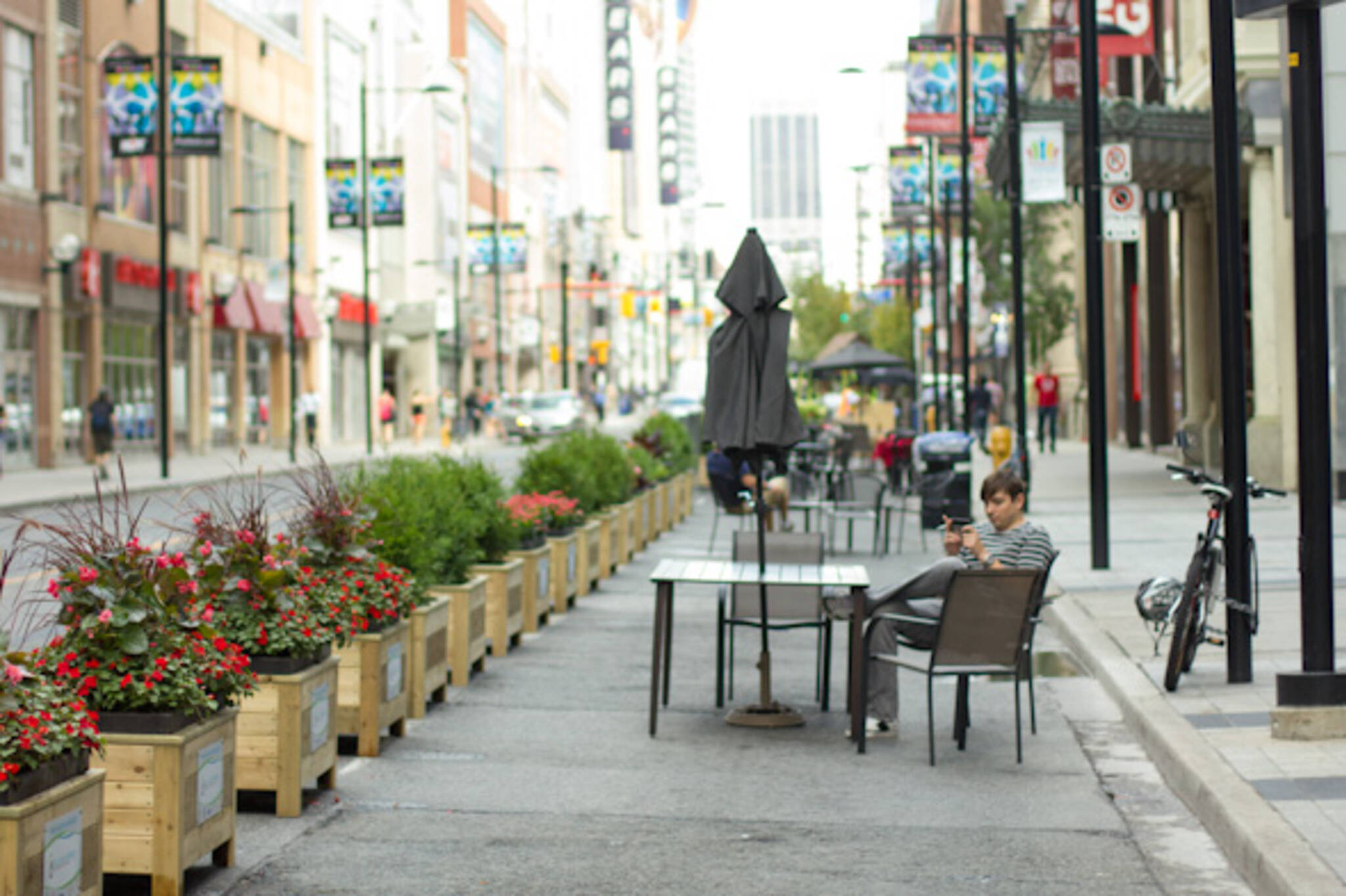 and Patio Now Yonge Friendly Street Pedestrian More