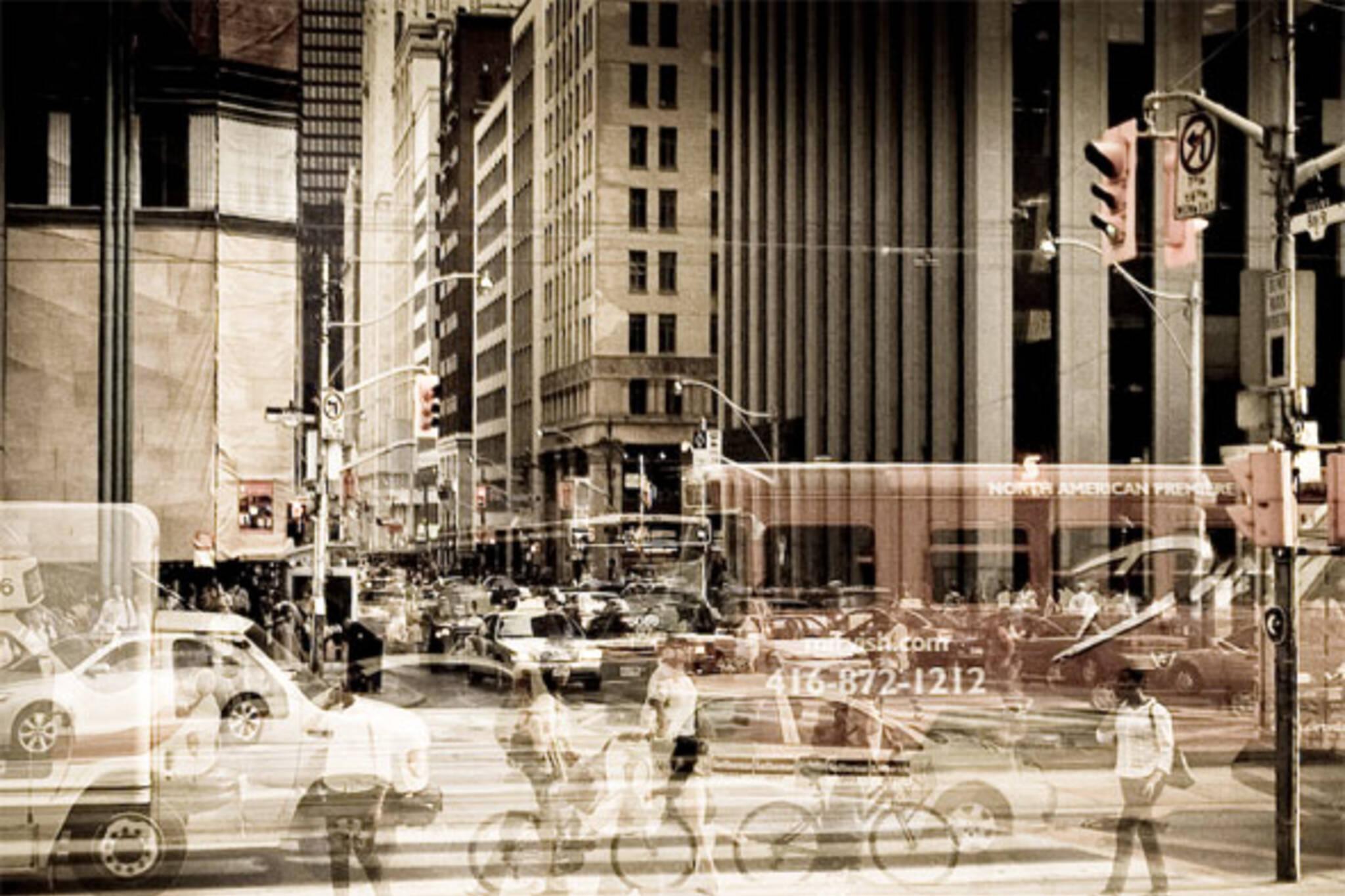 toronto downtown traffic