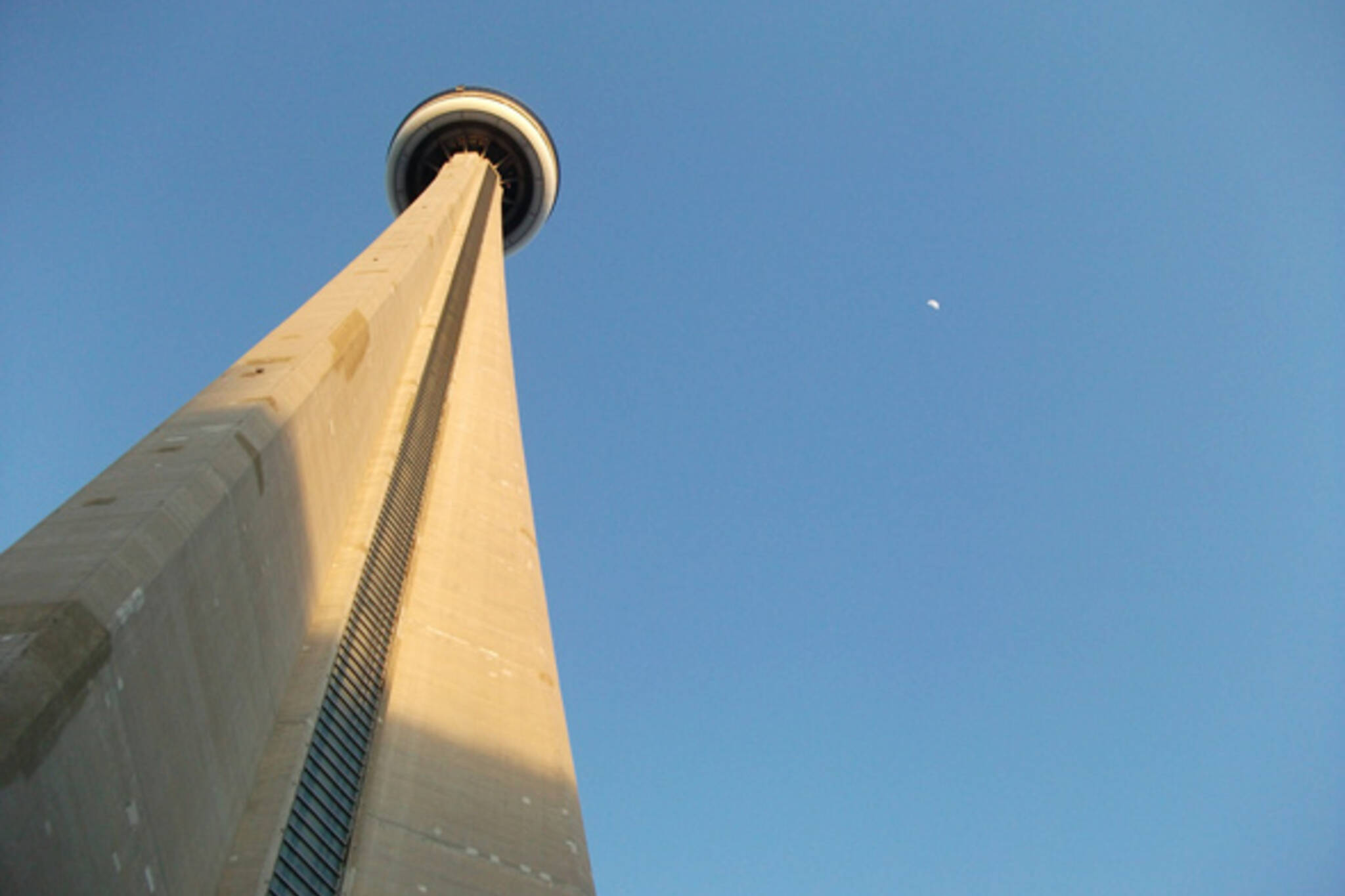 CN Tower Moon Toronto
