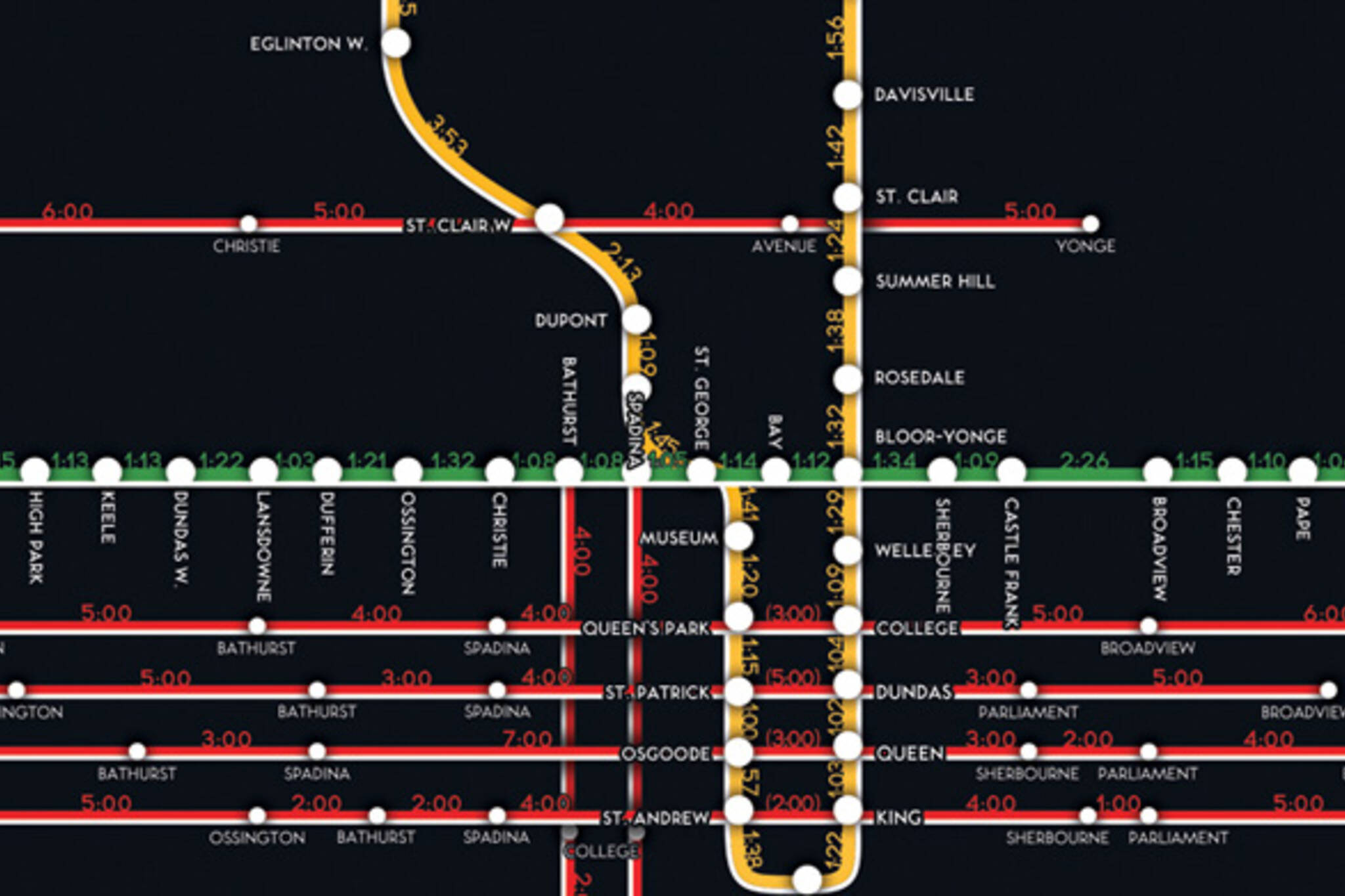 TTC Route Map Time Stop