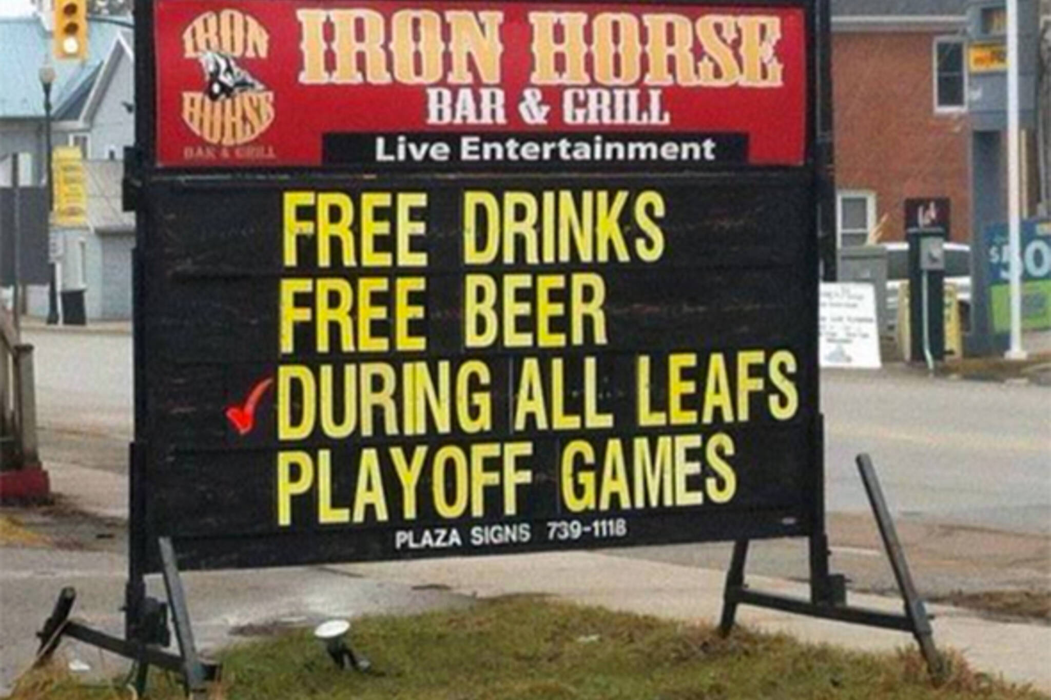 free beer leafs playoff games