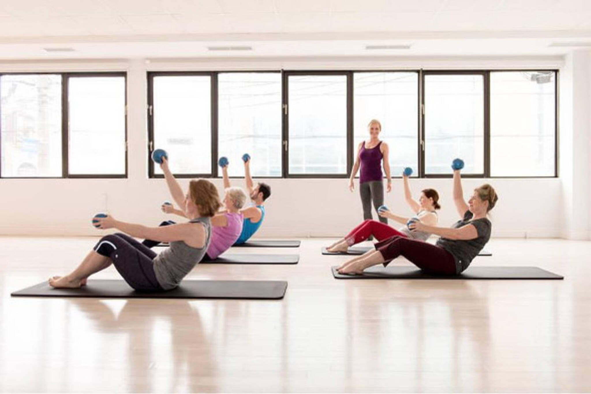 group pilates class