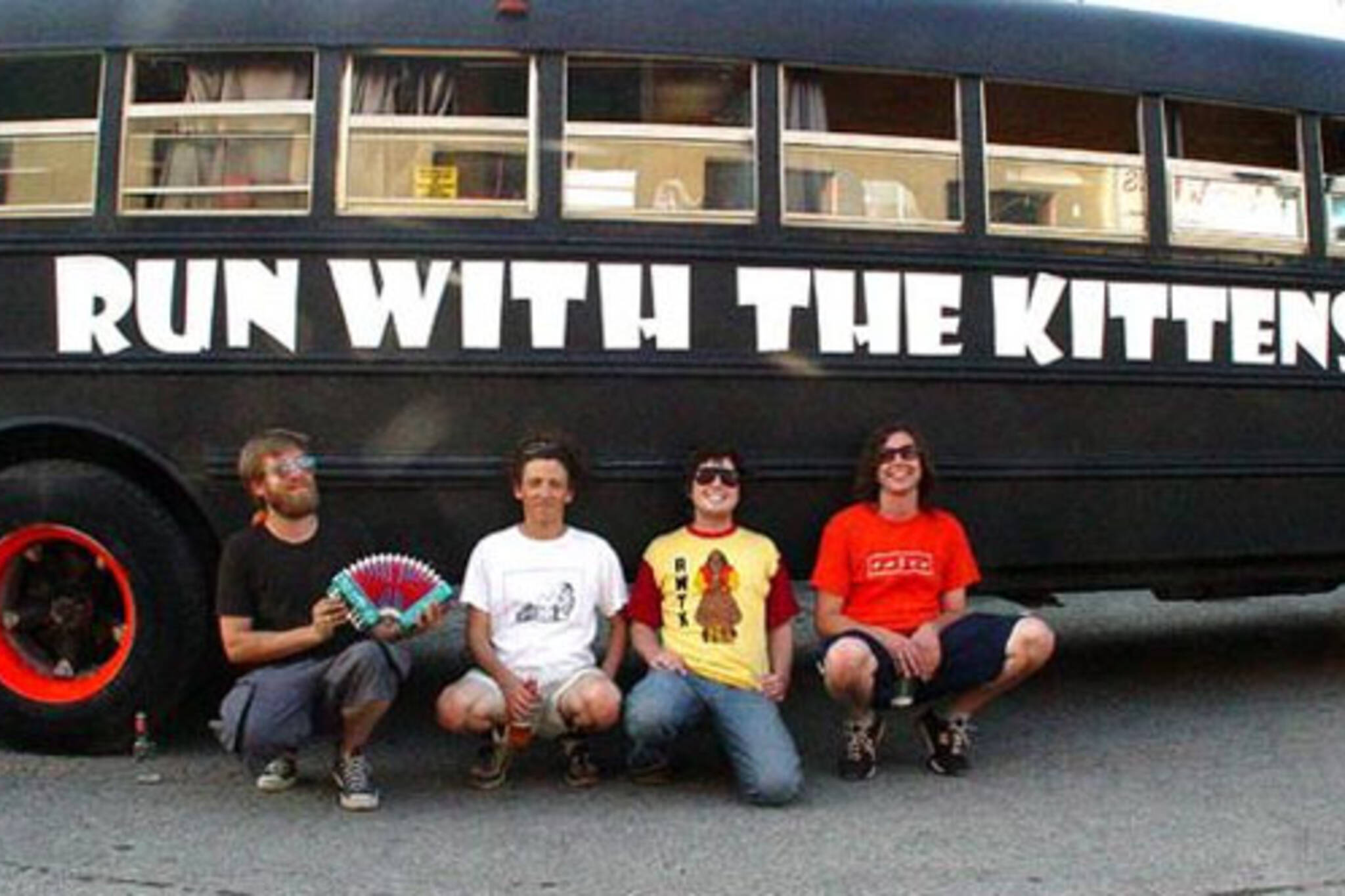 Run with the Kittens and their legendary tour bus