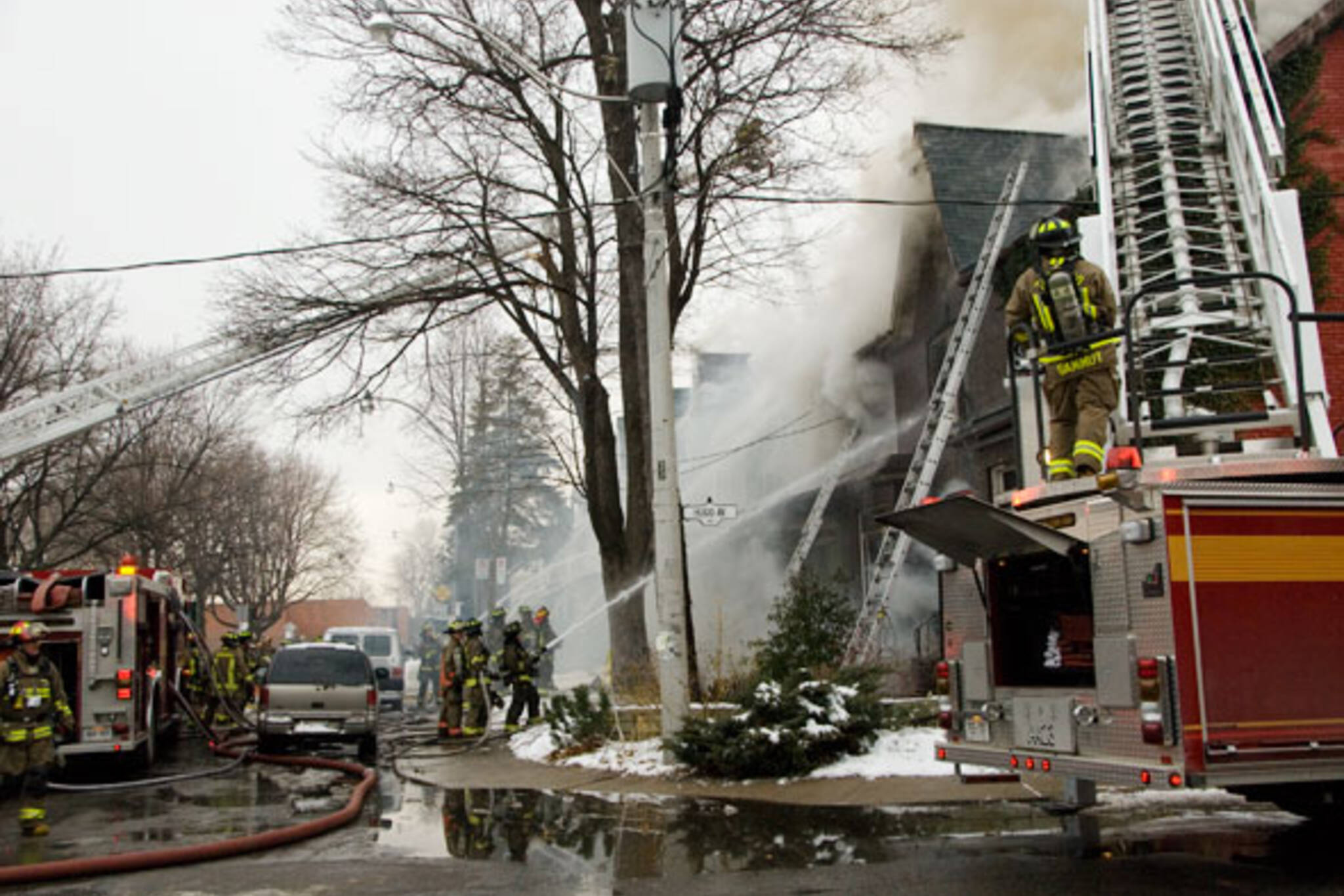 fire on Franklin St.