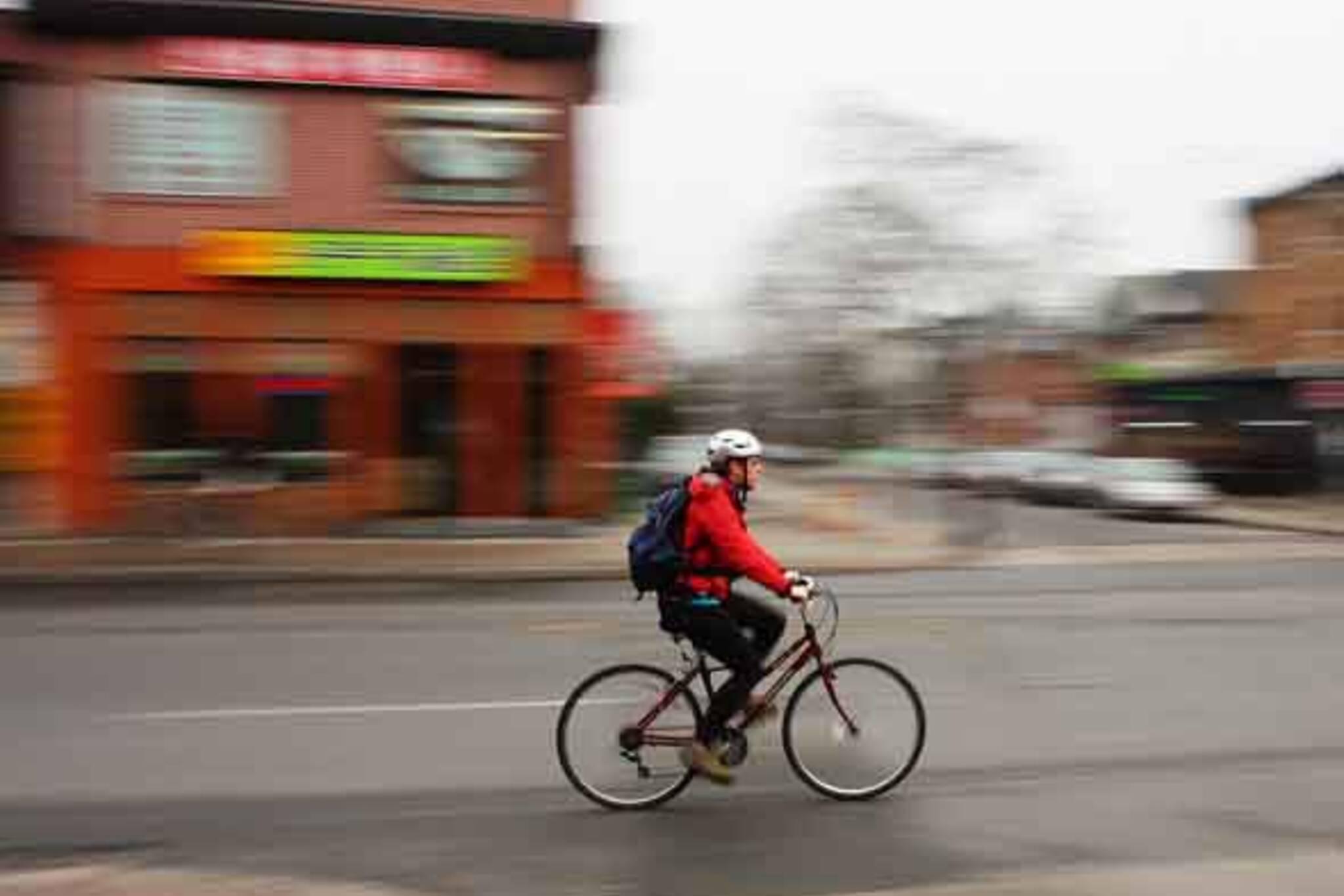 Biker On Bloor Street