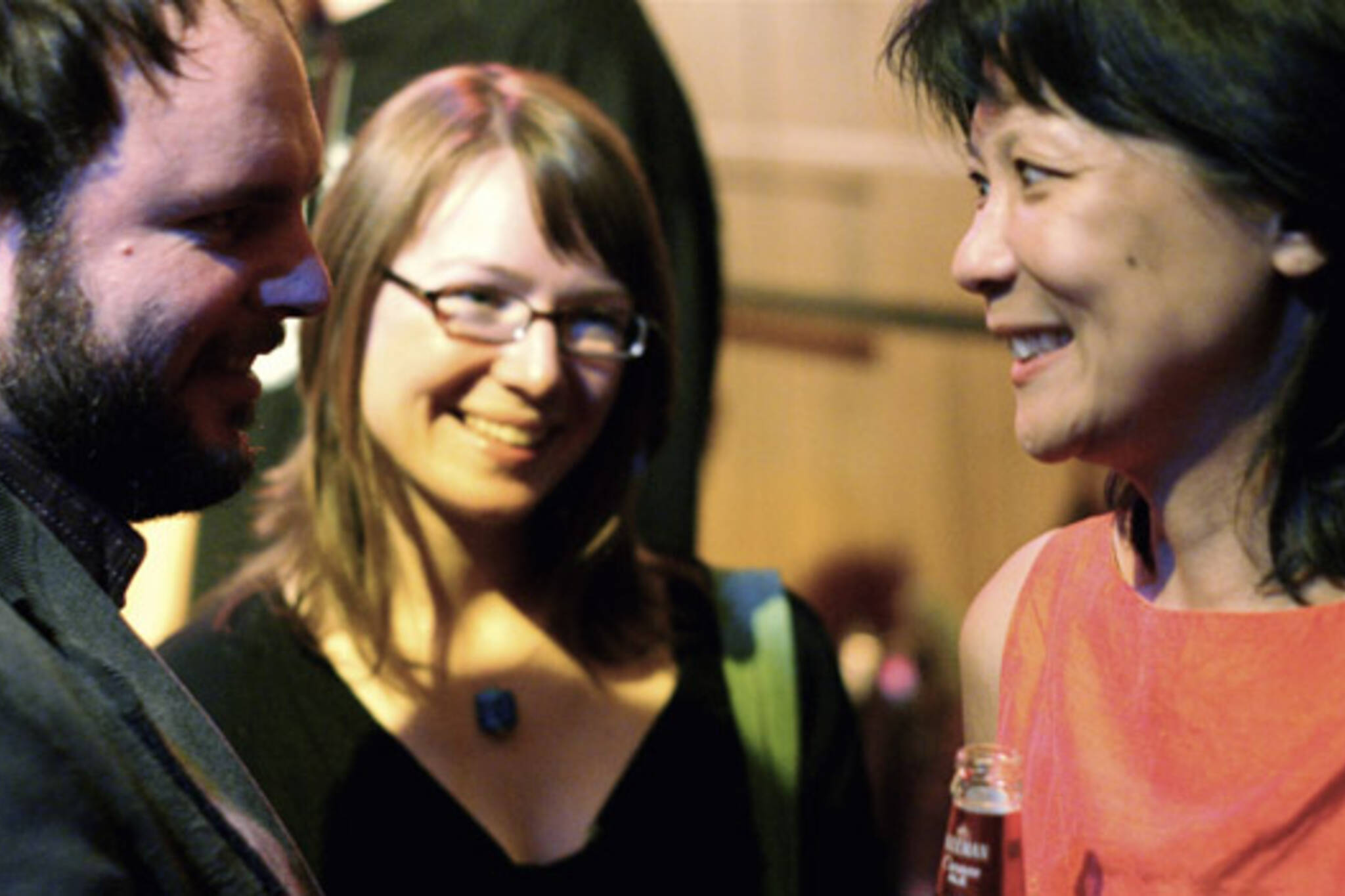 Olivia Chow (right) attended the Spacing magazine launch of The People Issue, seen here with Spacing publisher Matthew Blackett and Laura Boudreau