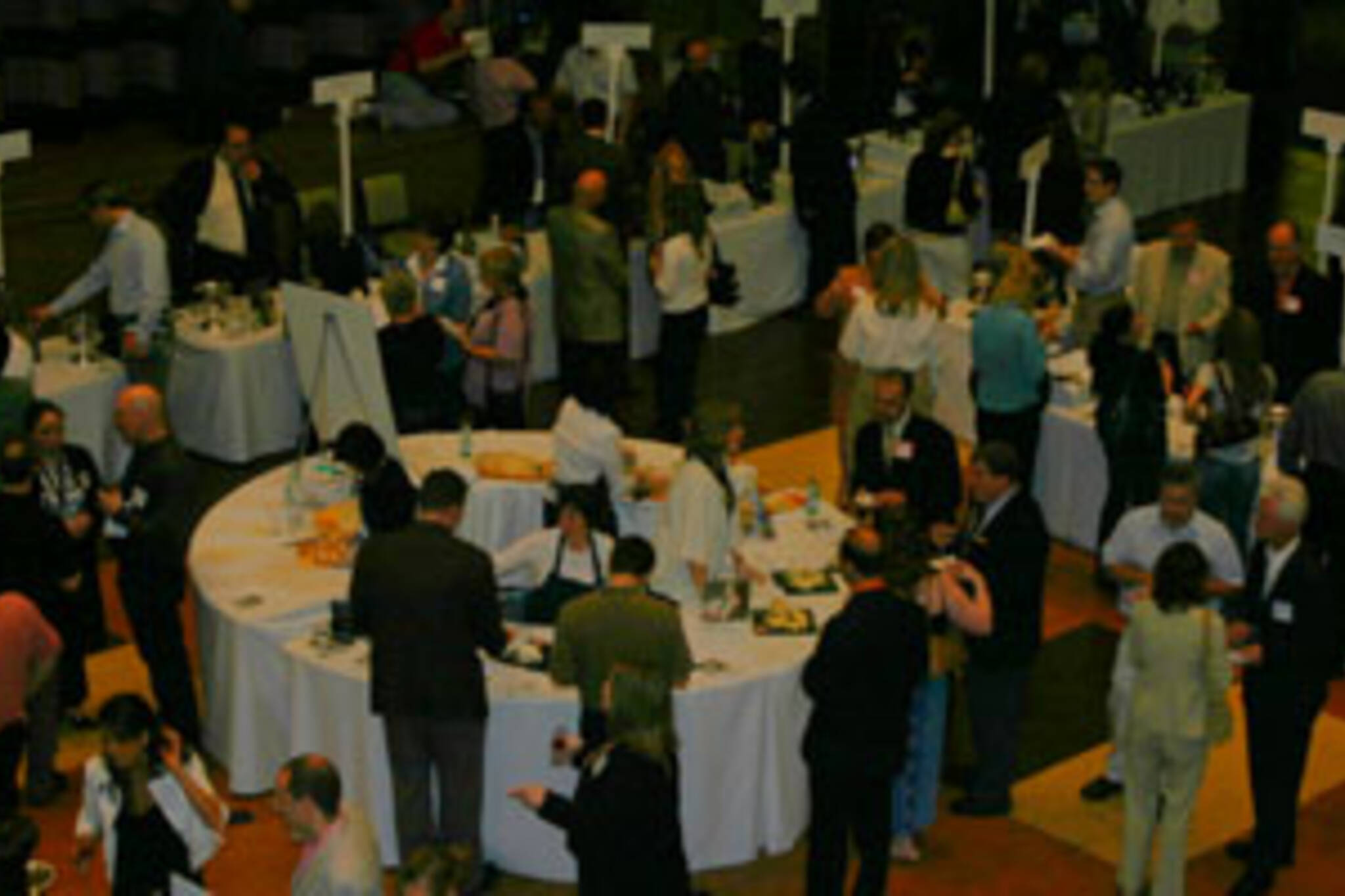 The tasting floor.  The circular table at the centre was filled with cheese.