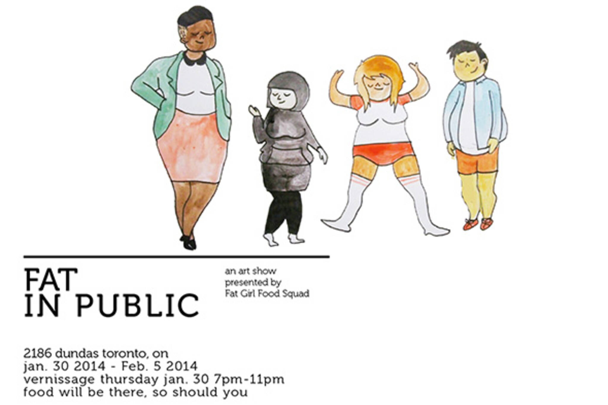 Fat in public art show toronto