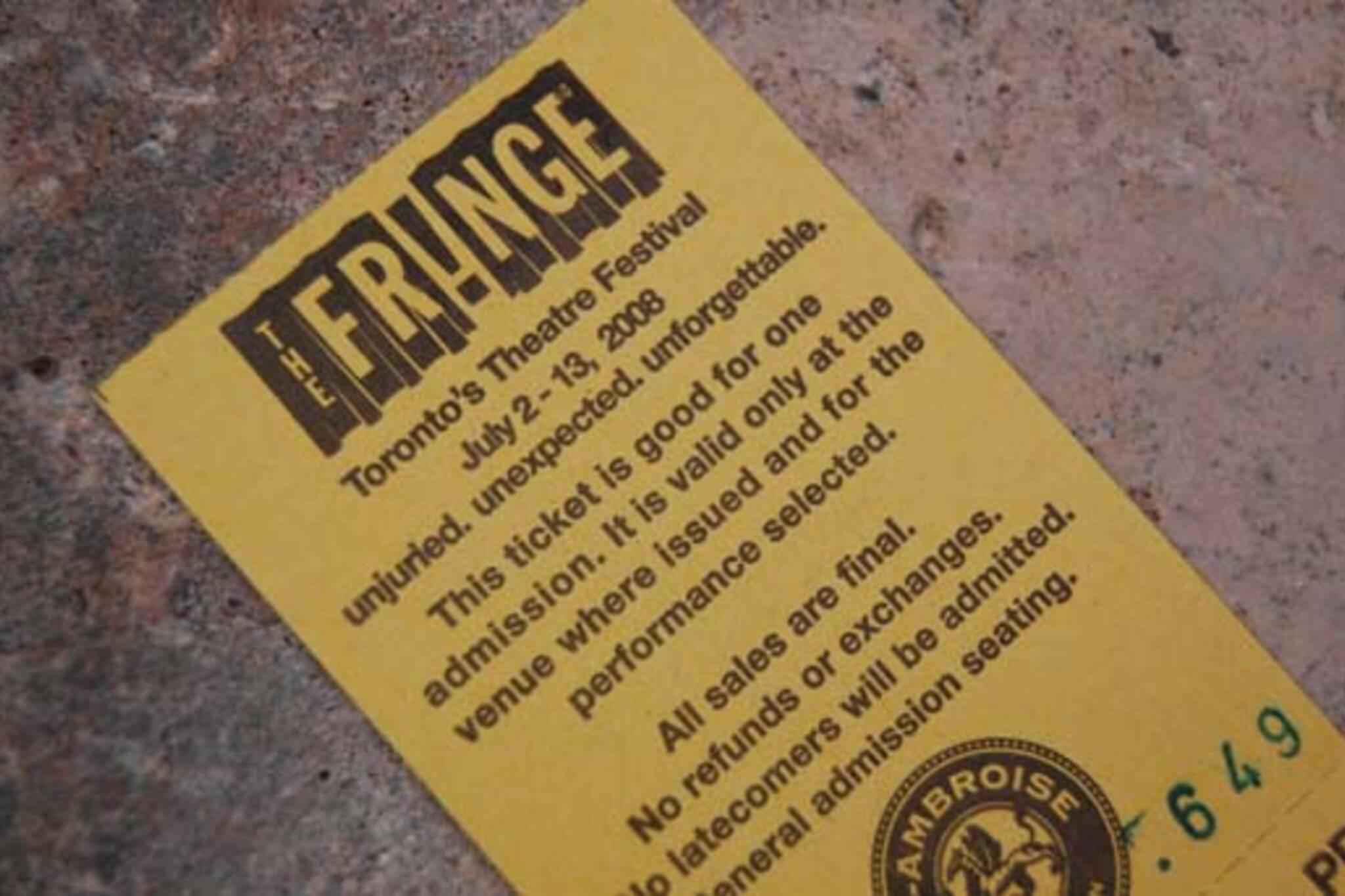fringe ticket