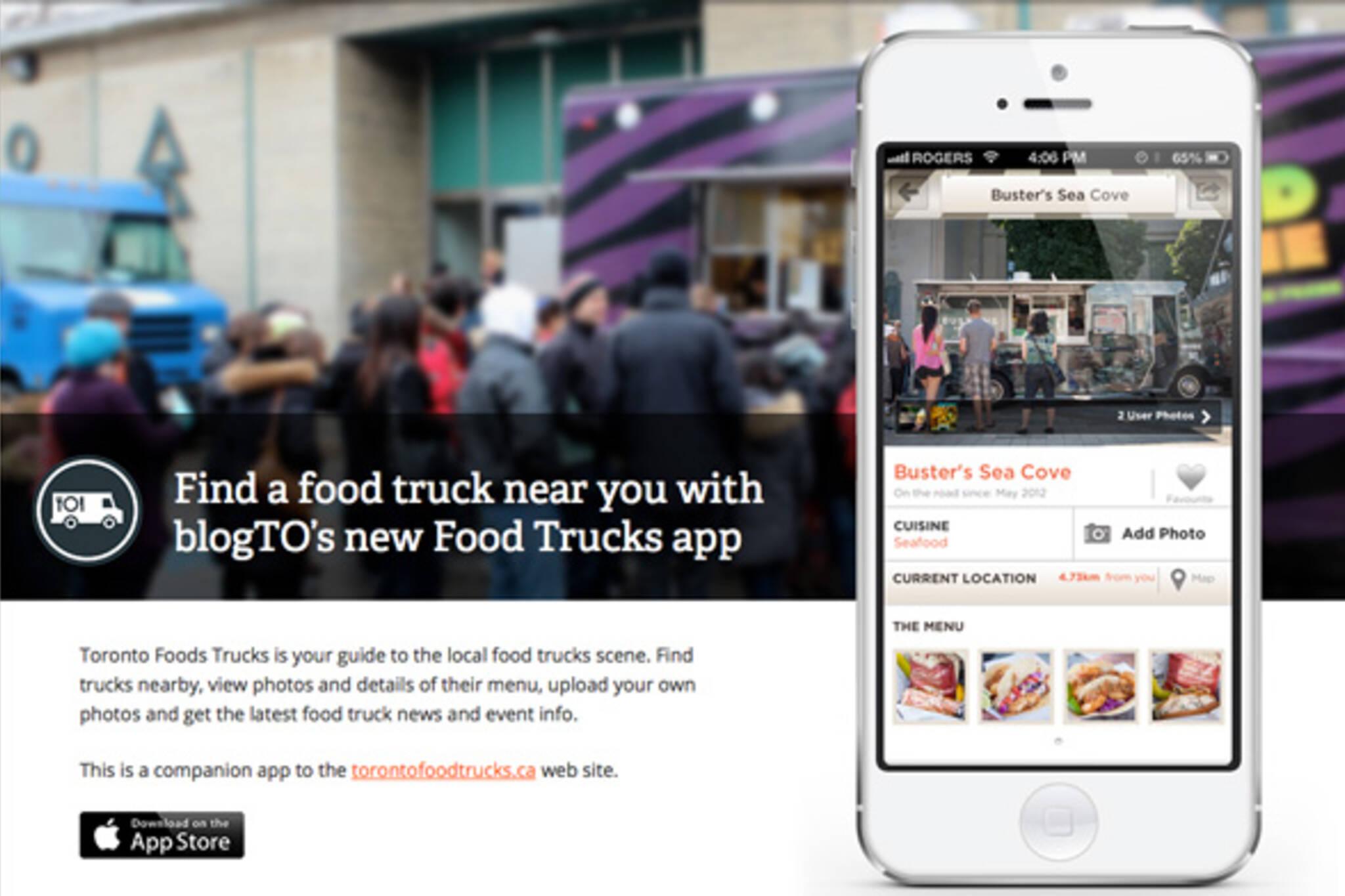 Toronto foods trucks app