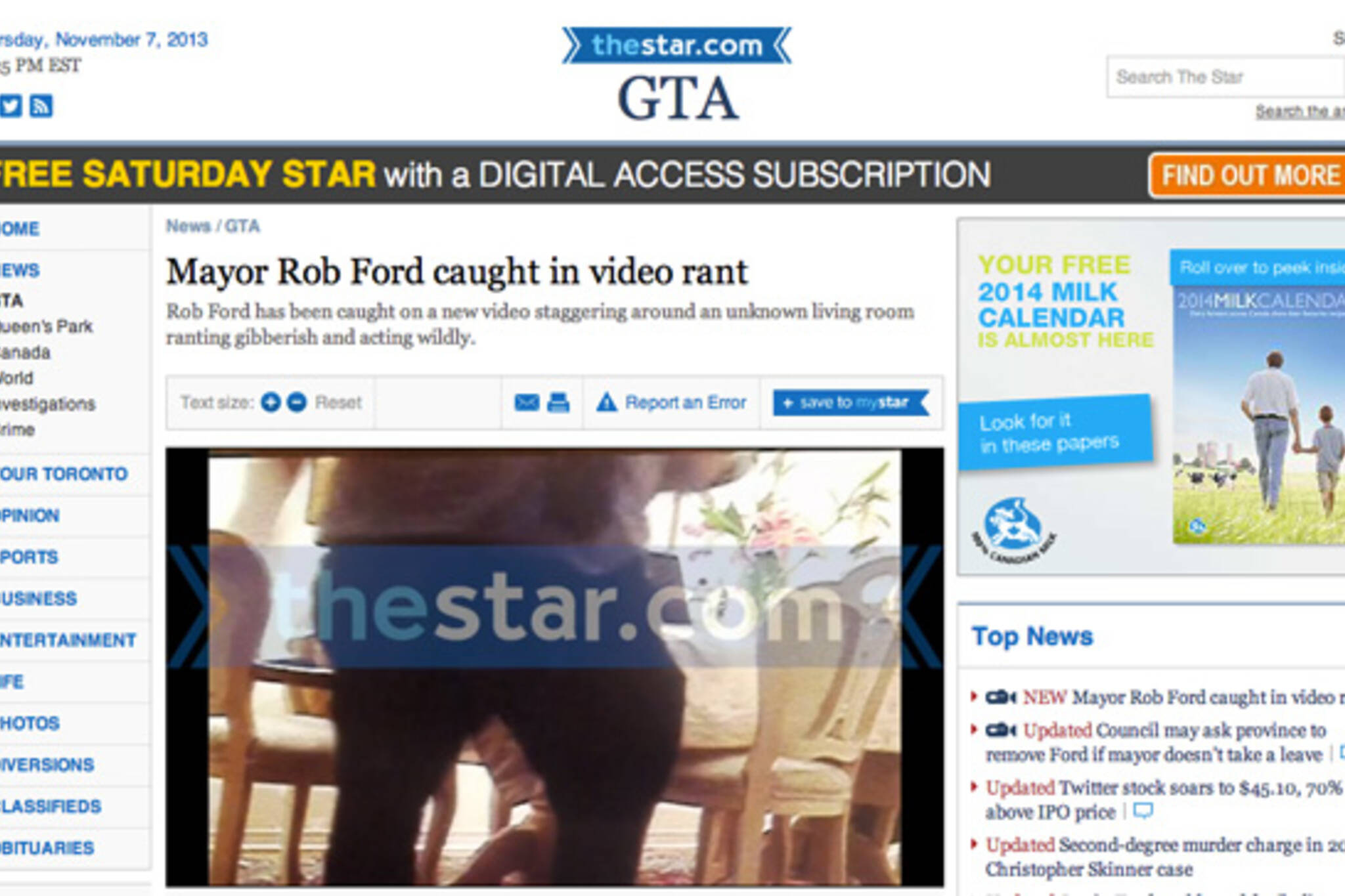 Rob Ford Kill Video