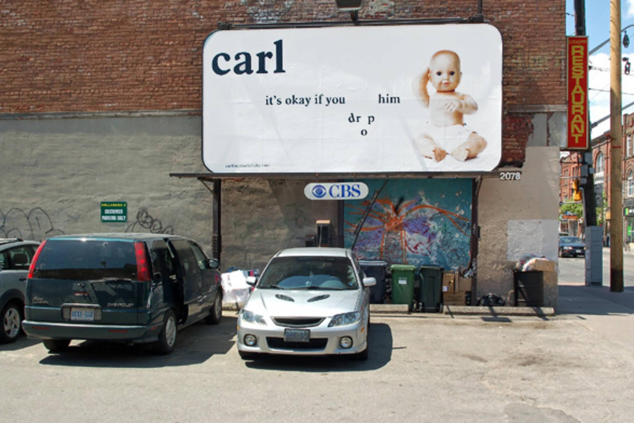fauxreel billboard carl baby