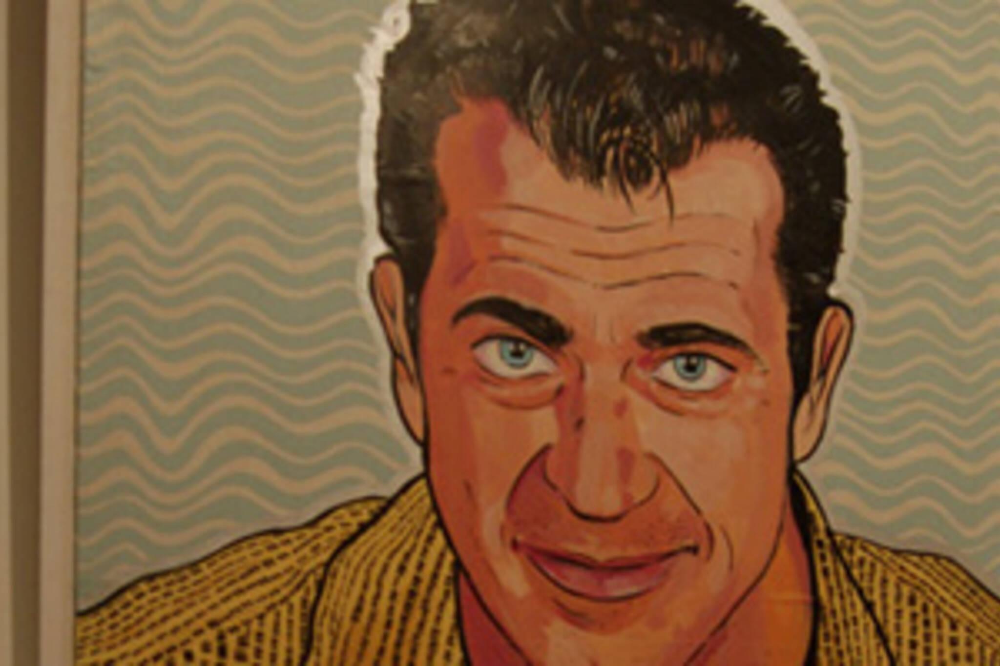 Mel Gibson mug shot @ Whipper Snapper Gallery