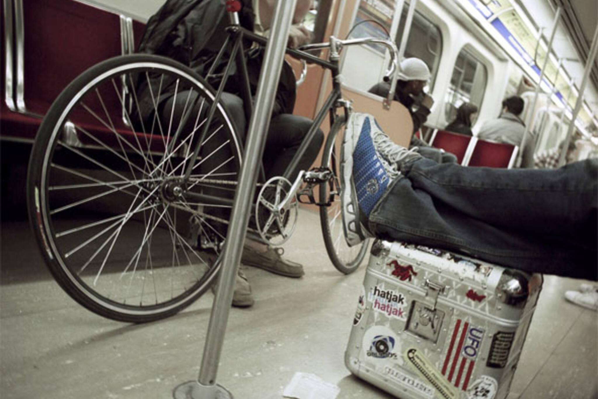 bike on subway toronto