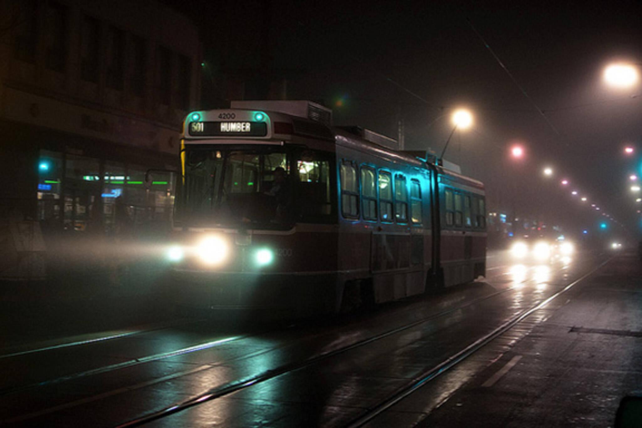TTC streetcar fog