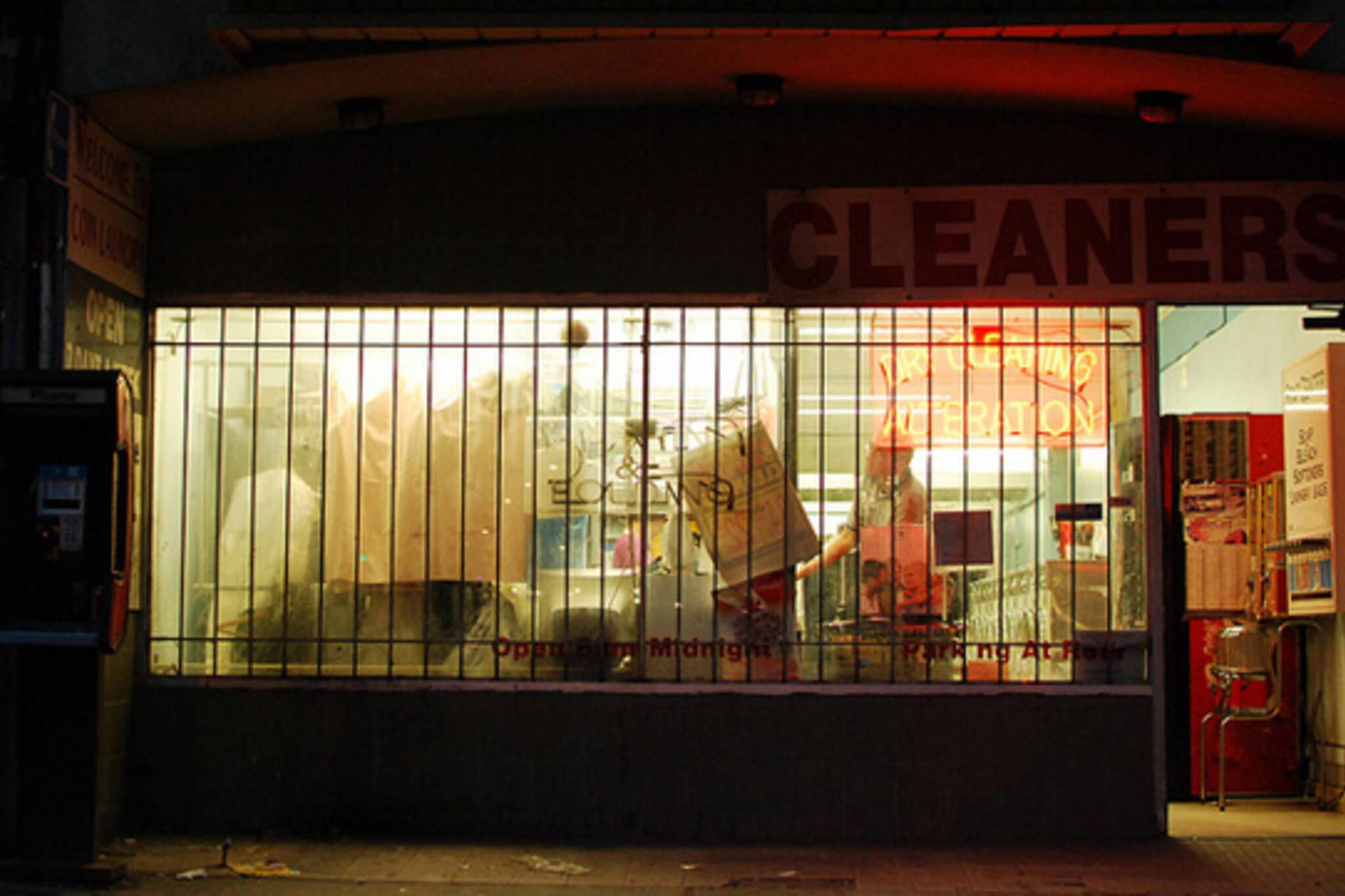 shop, storefront, night