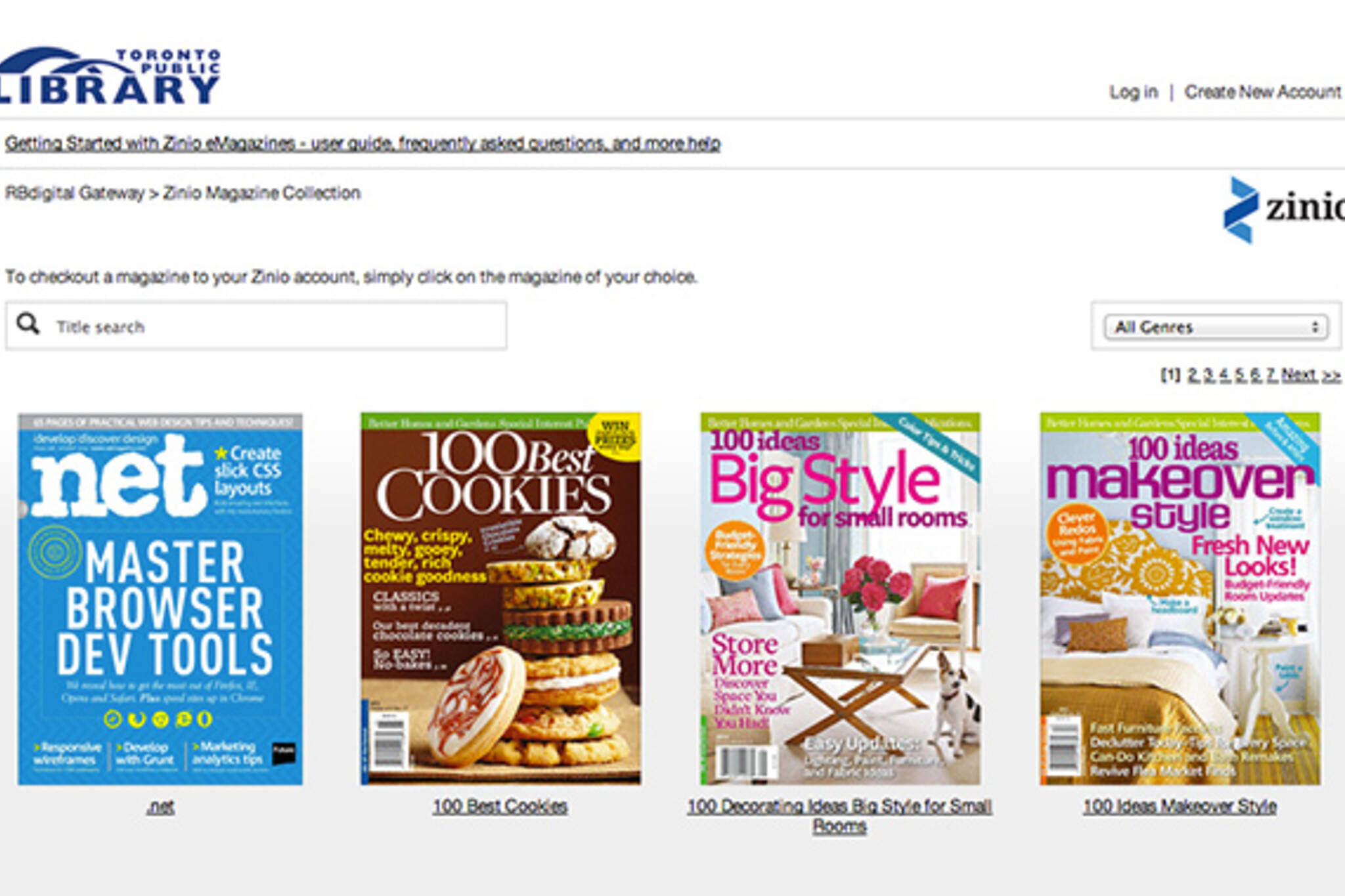 Toronto Public Library Digital Magazines