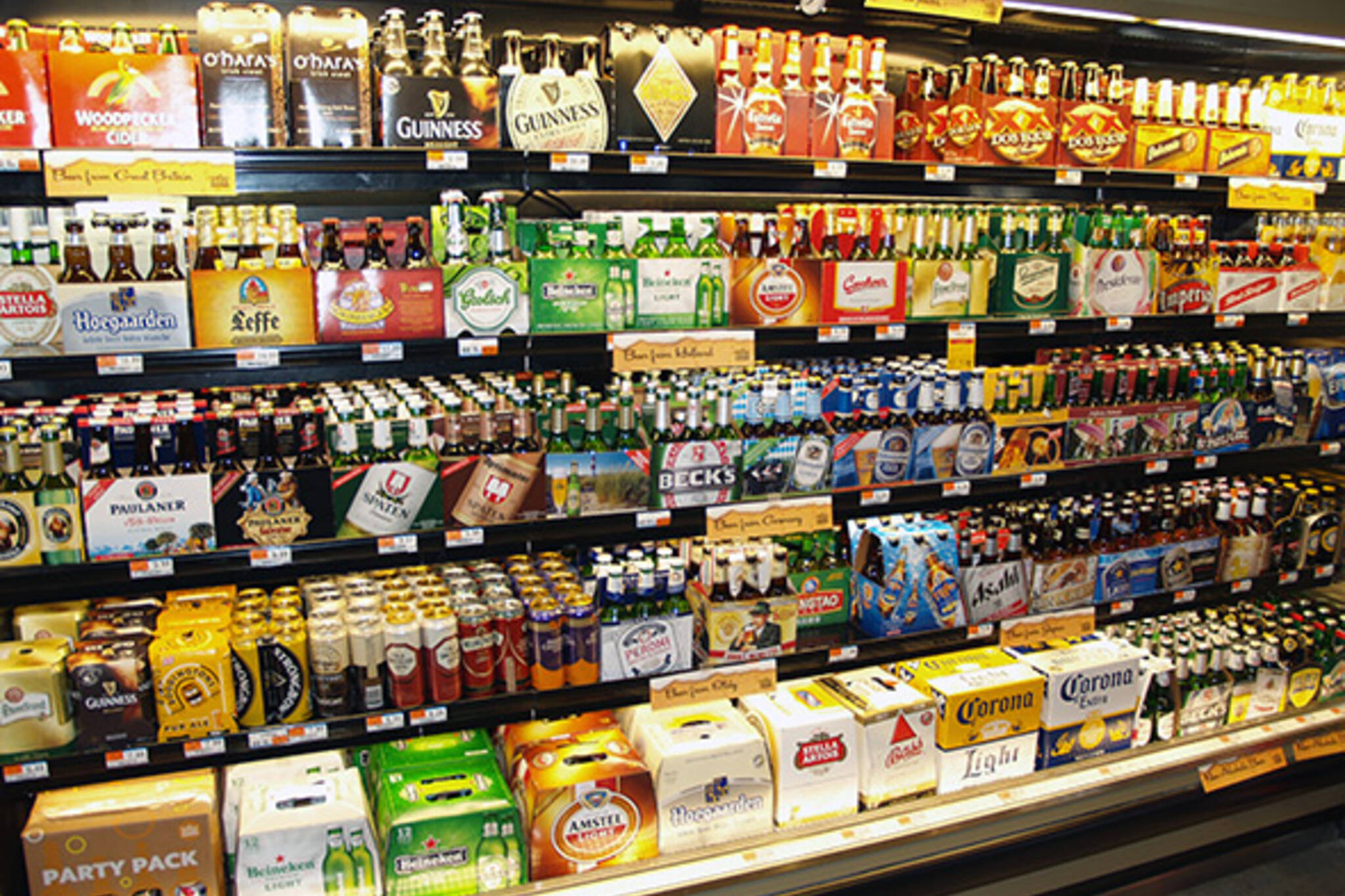 beer grocery store quota