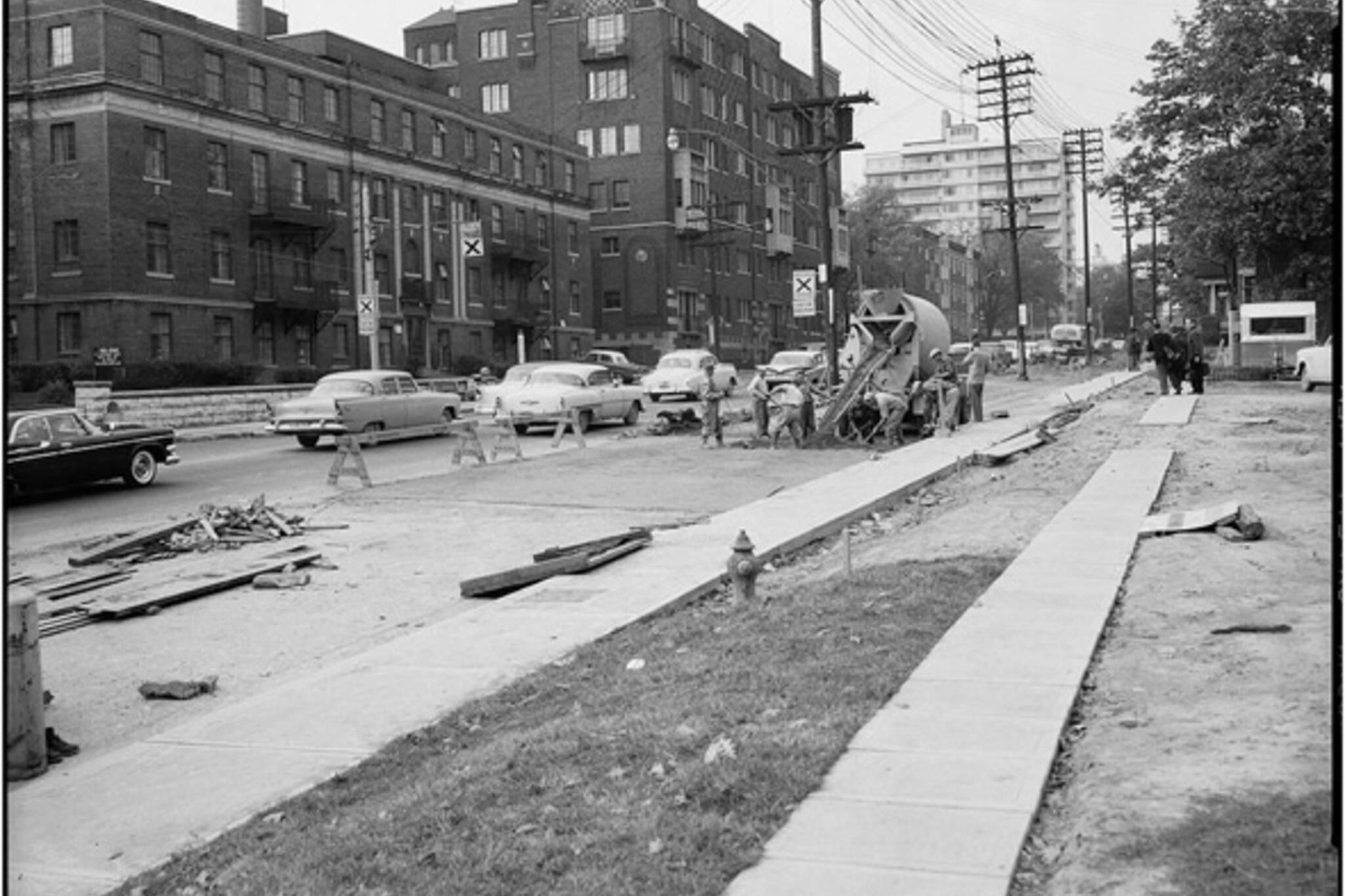 Toronto street widen history