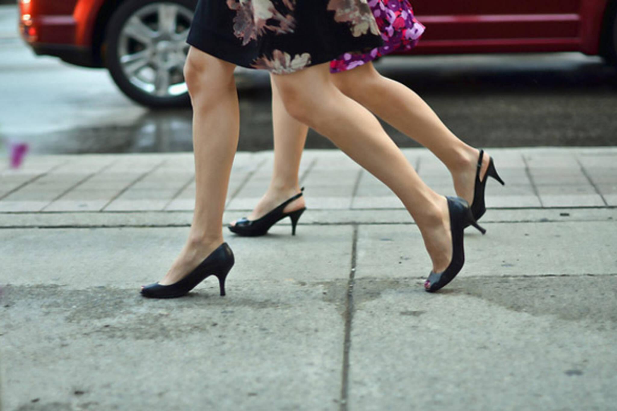 street, heel, walk