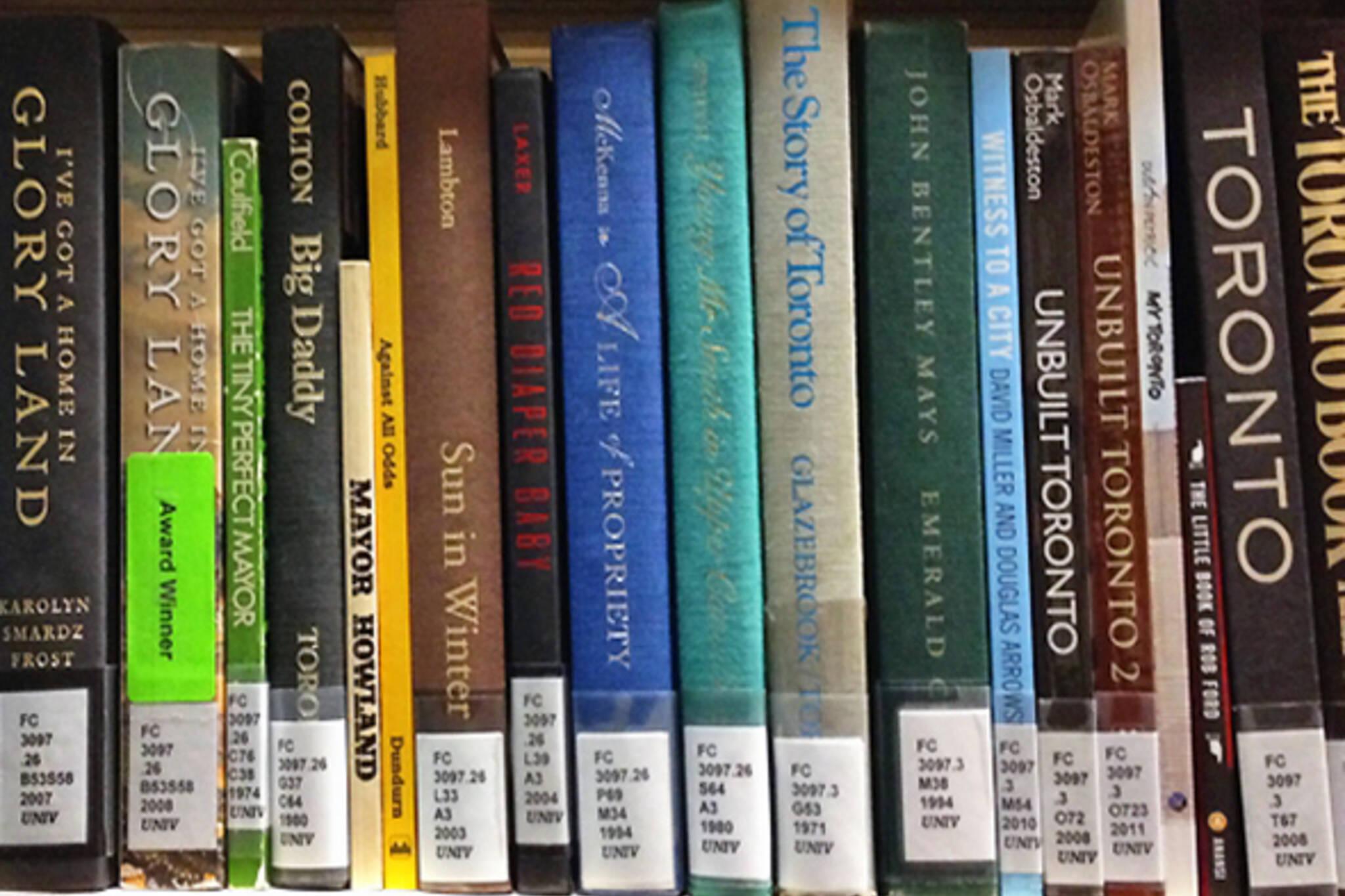 books toronto history