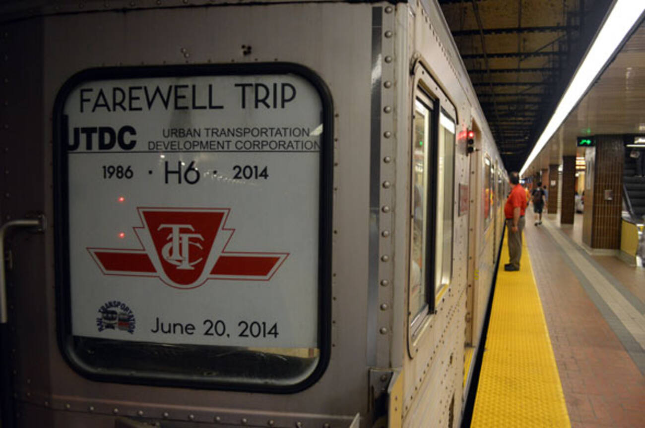 The Ttc Says Goodbye To Its Last H6 Subway Train