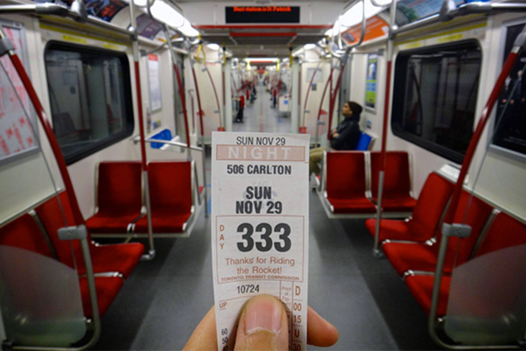 TTC peak fare