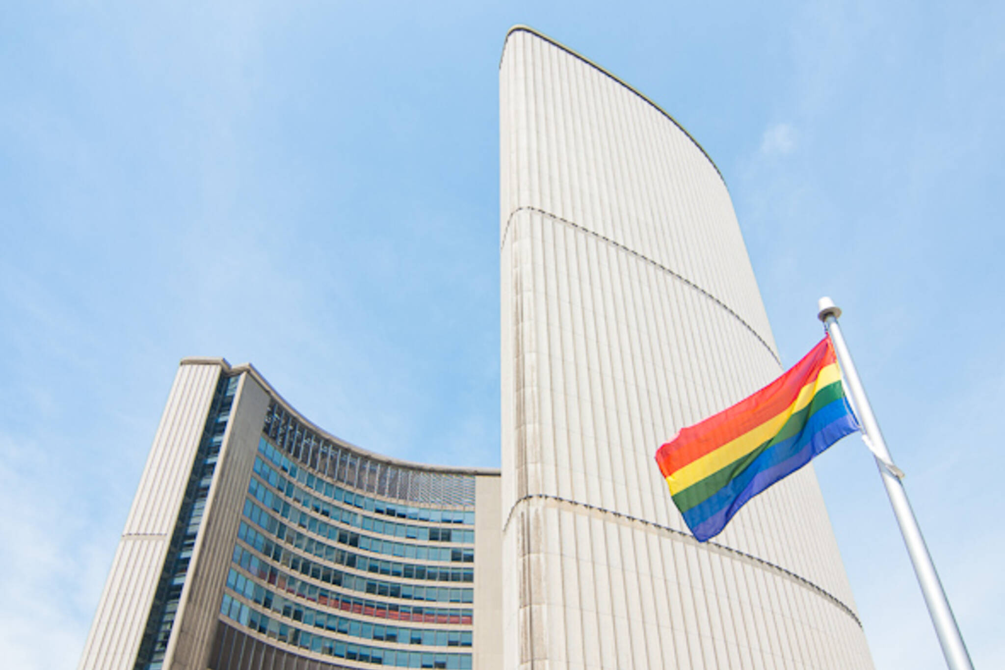 Rainbow Flag Raising Pride Toronto