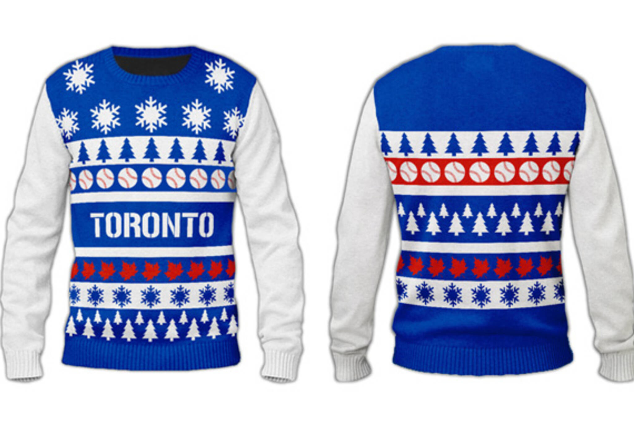 ugly sweater blue jays