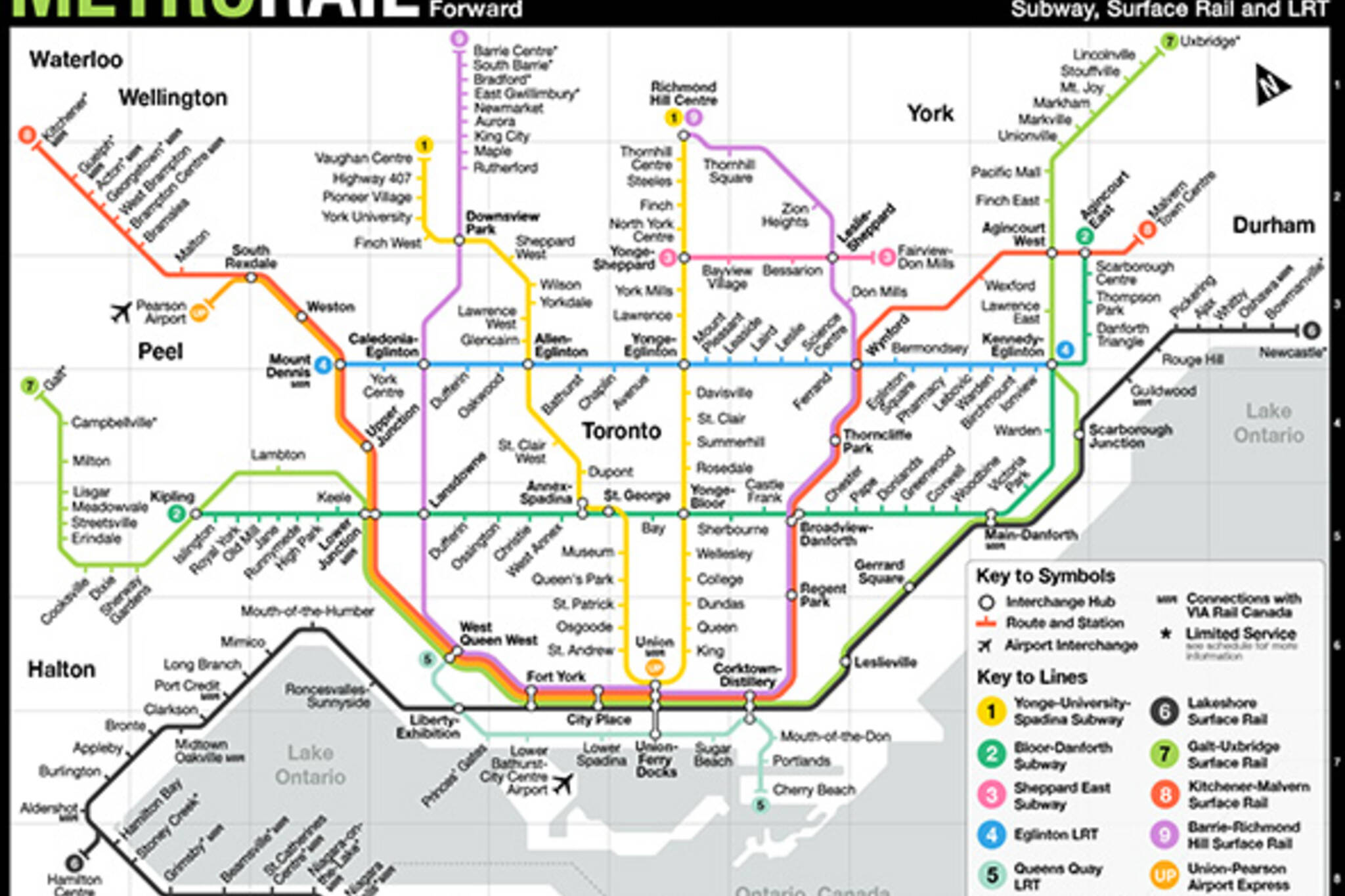Go Transit Map Fantasy map fuses the TTC and GO Transit Go Transit Map