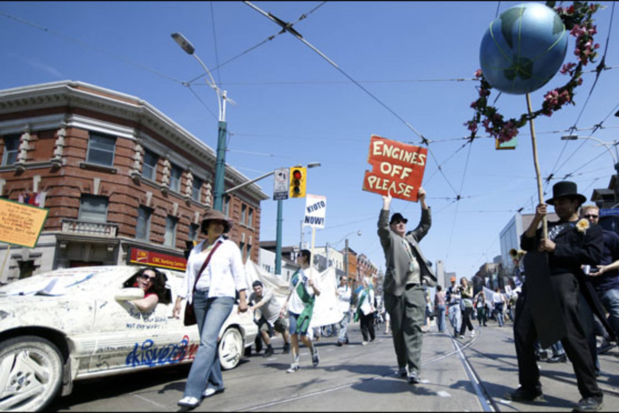 Earth Day March with Petition Car in Toronto