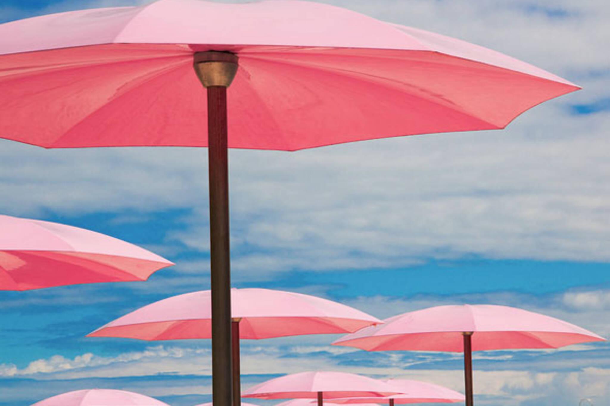 toronto sugar beach waterfront umbrellas