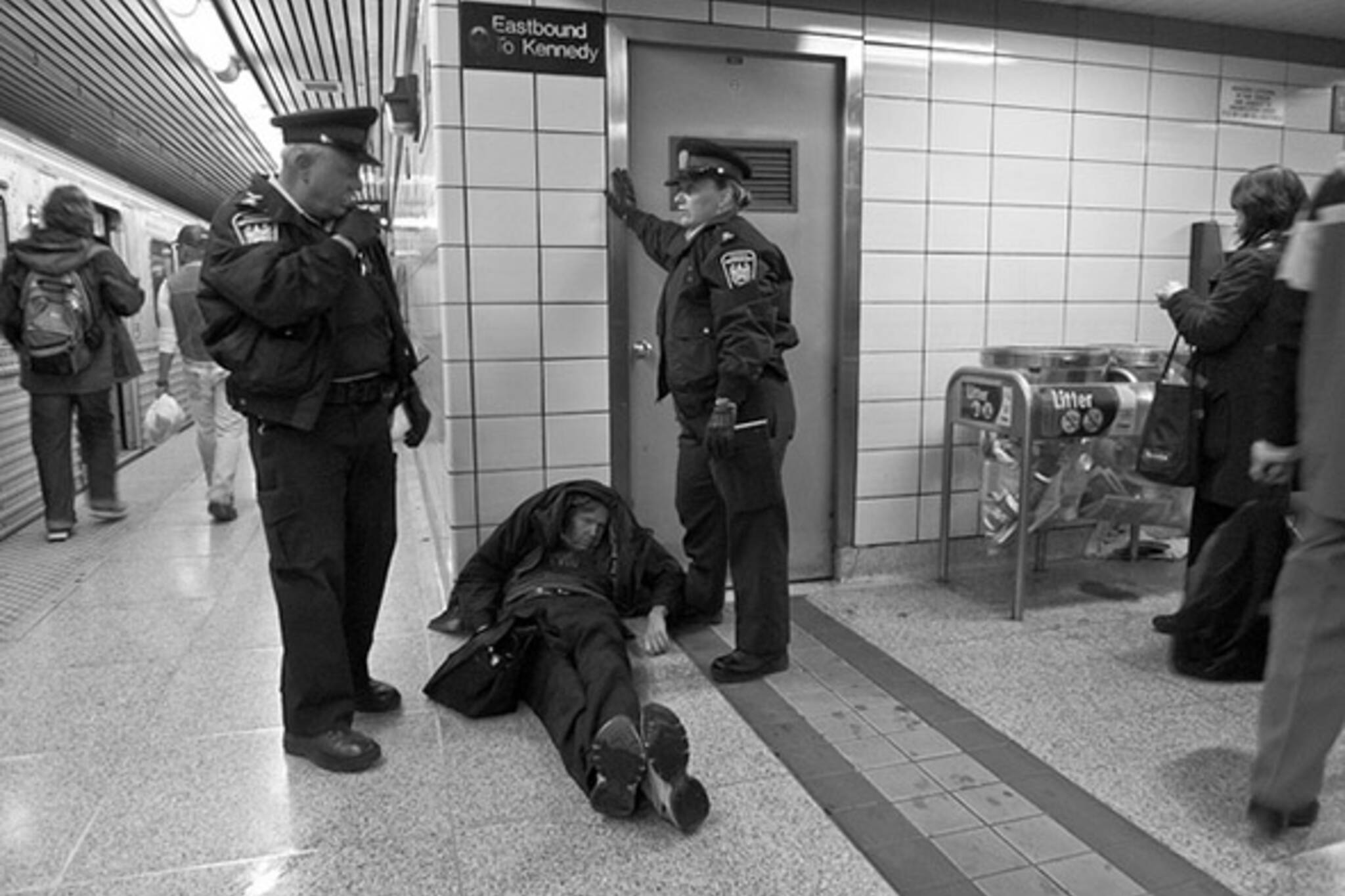 transit, subway, cops