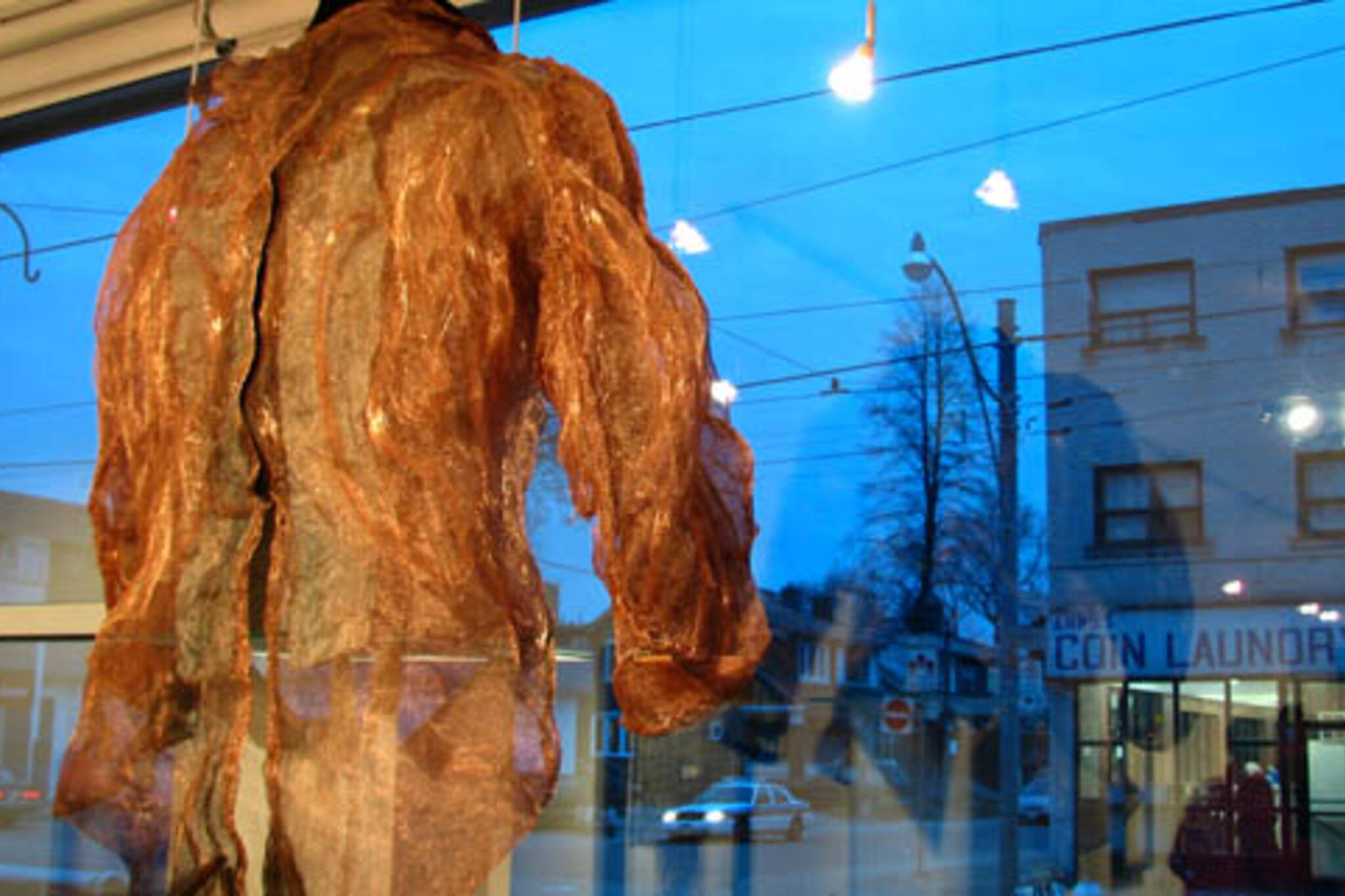 Copper screening jacket by Shelagh Young, part of Domestic Science at the Pentimento Fine Art Gallery