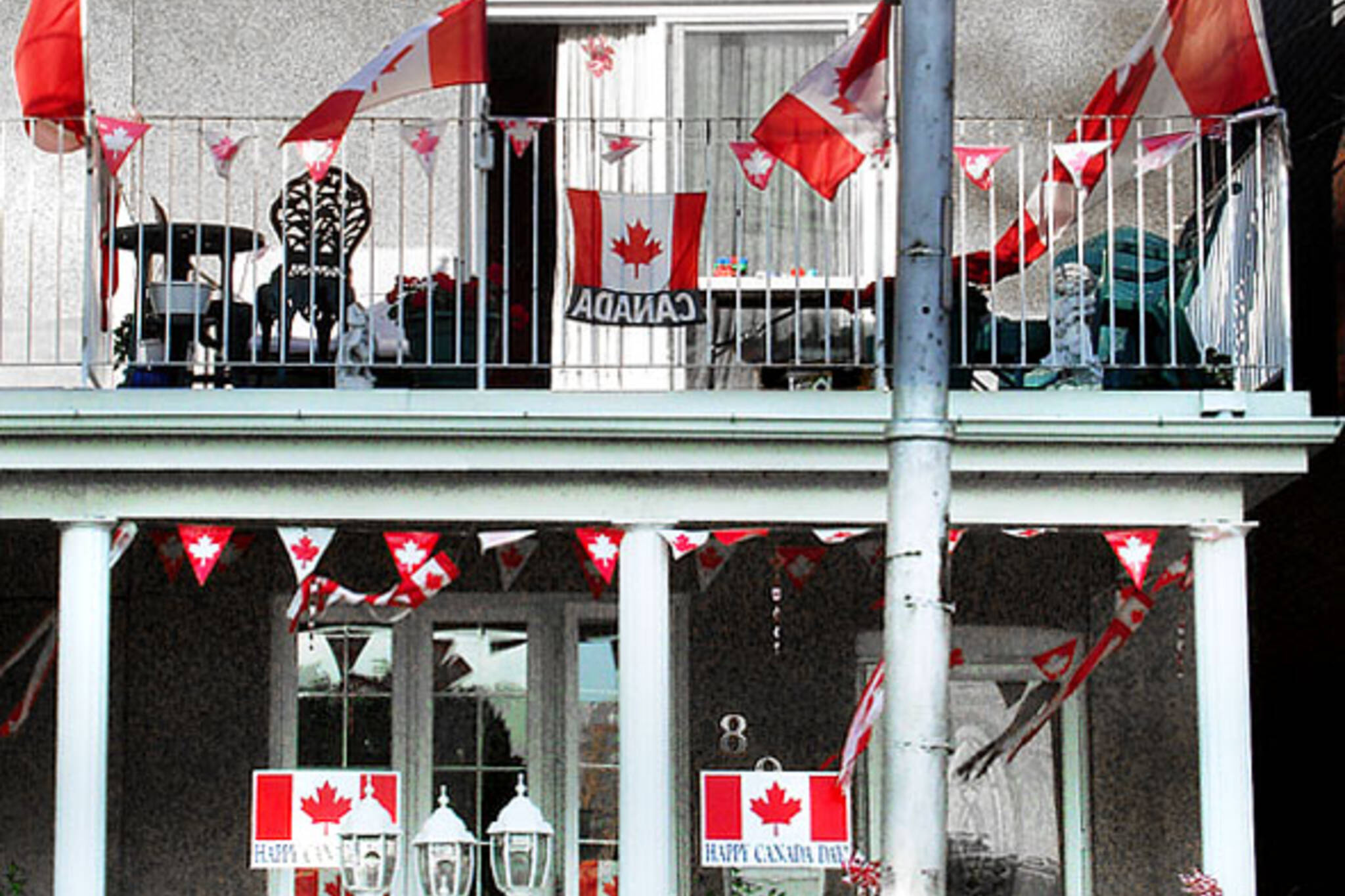 Canada Day decorations in Toronto