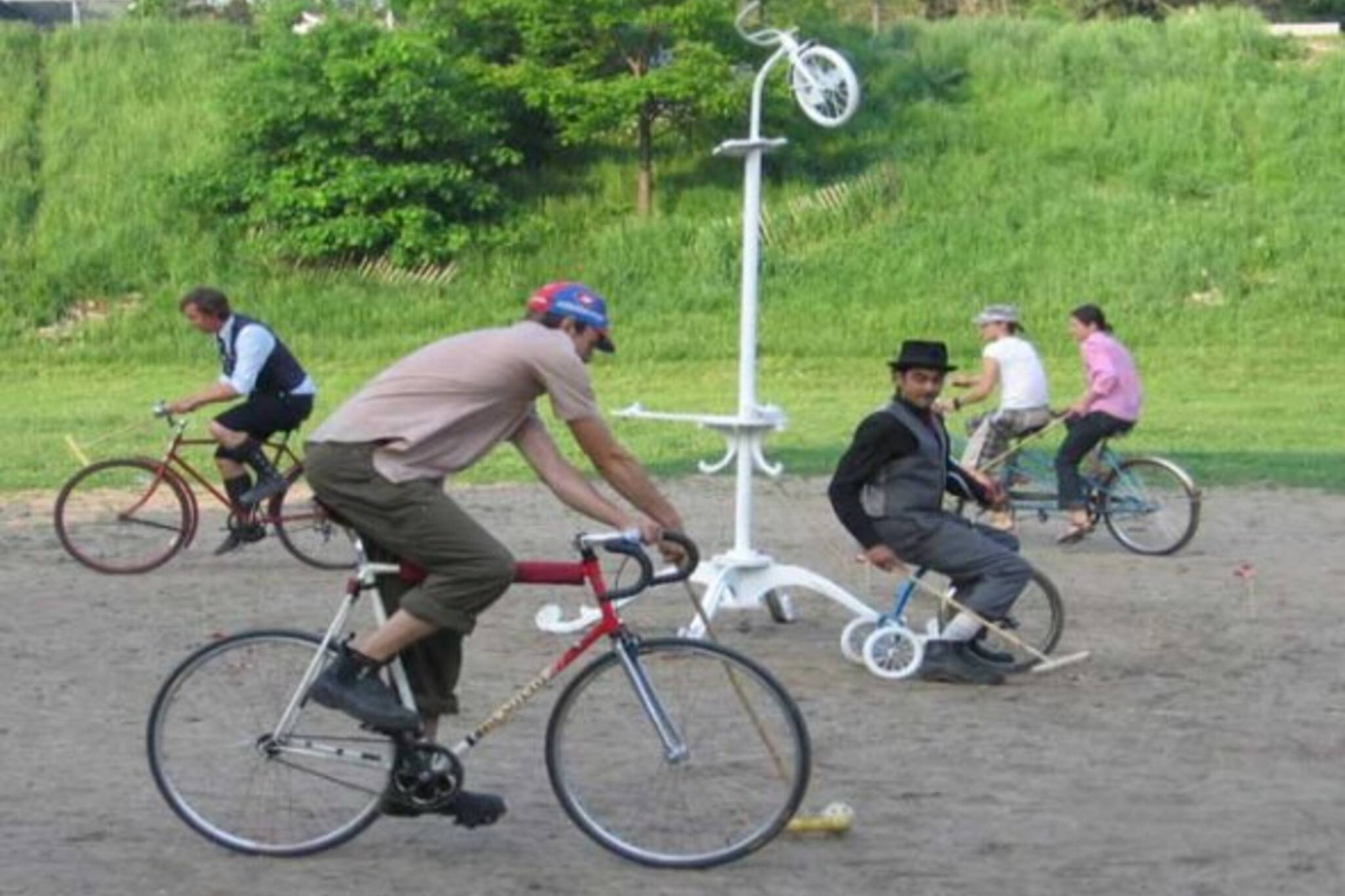 Bicycle Polo Players