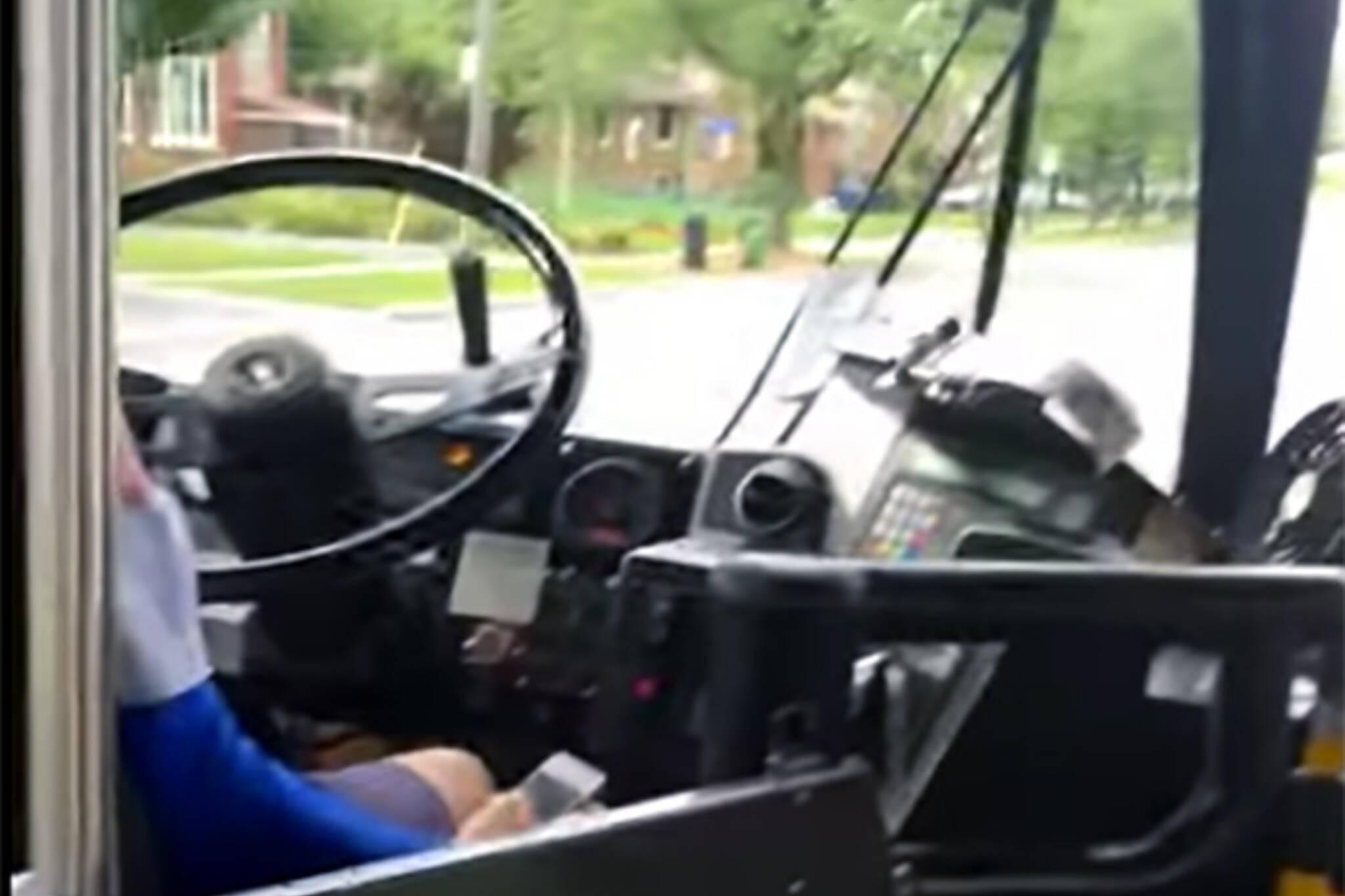 ttc driver texting video