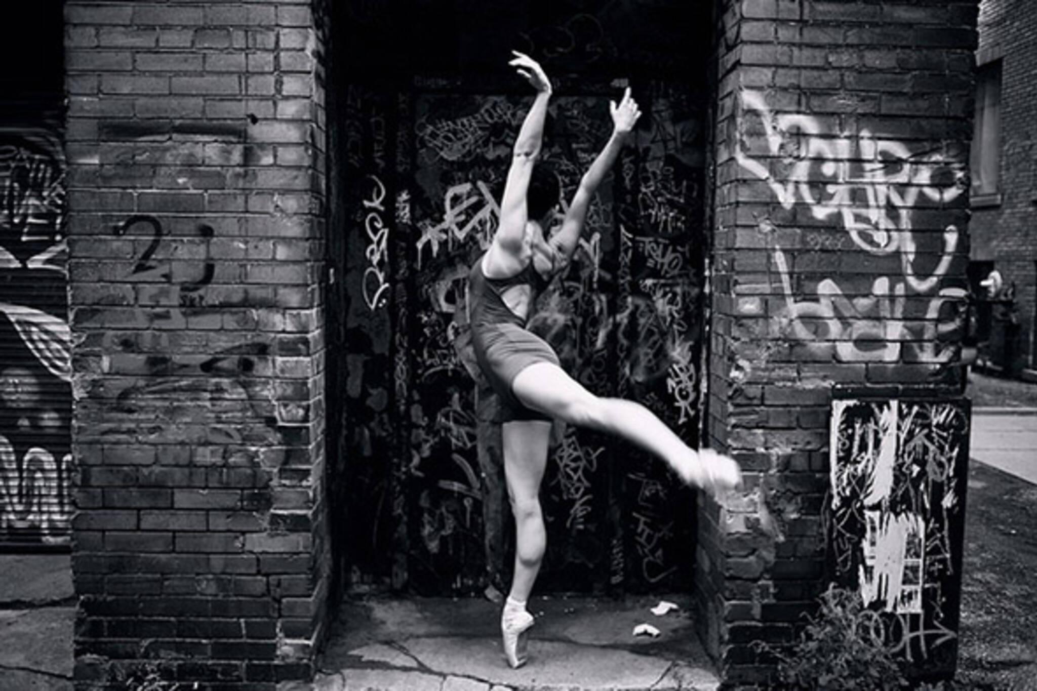 dance, ballet, alley