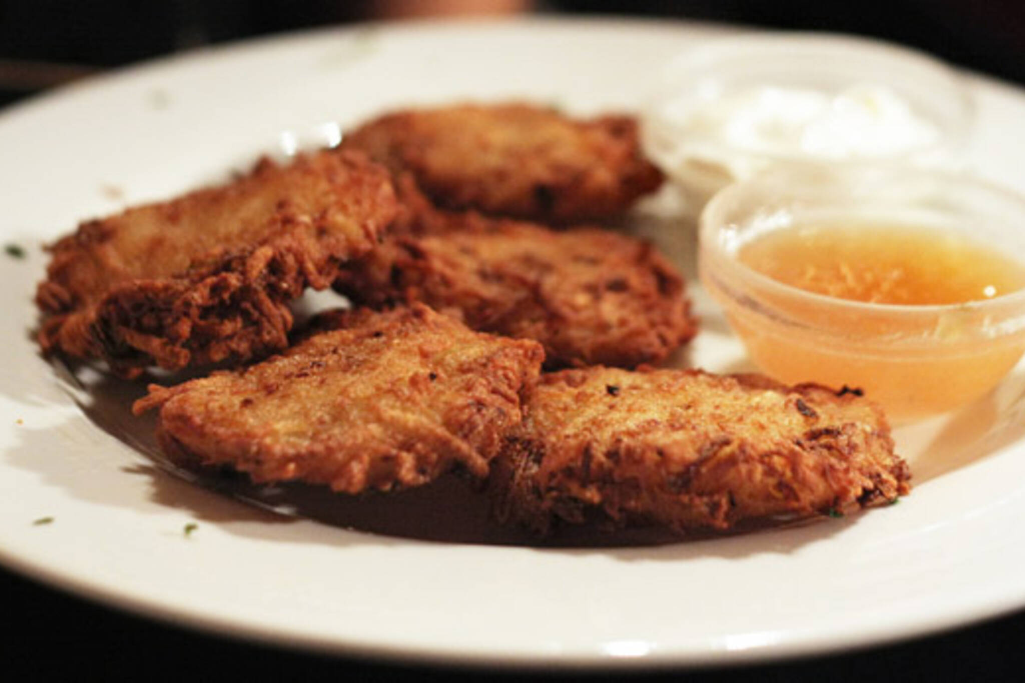 Latkes at Free Times Cafe