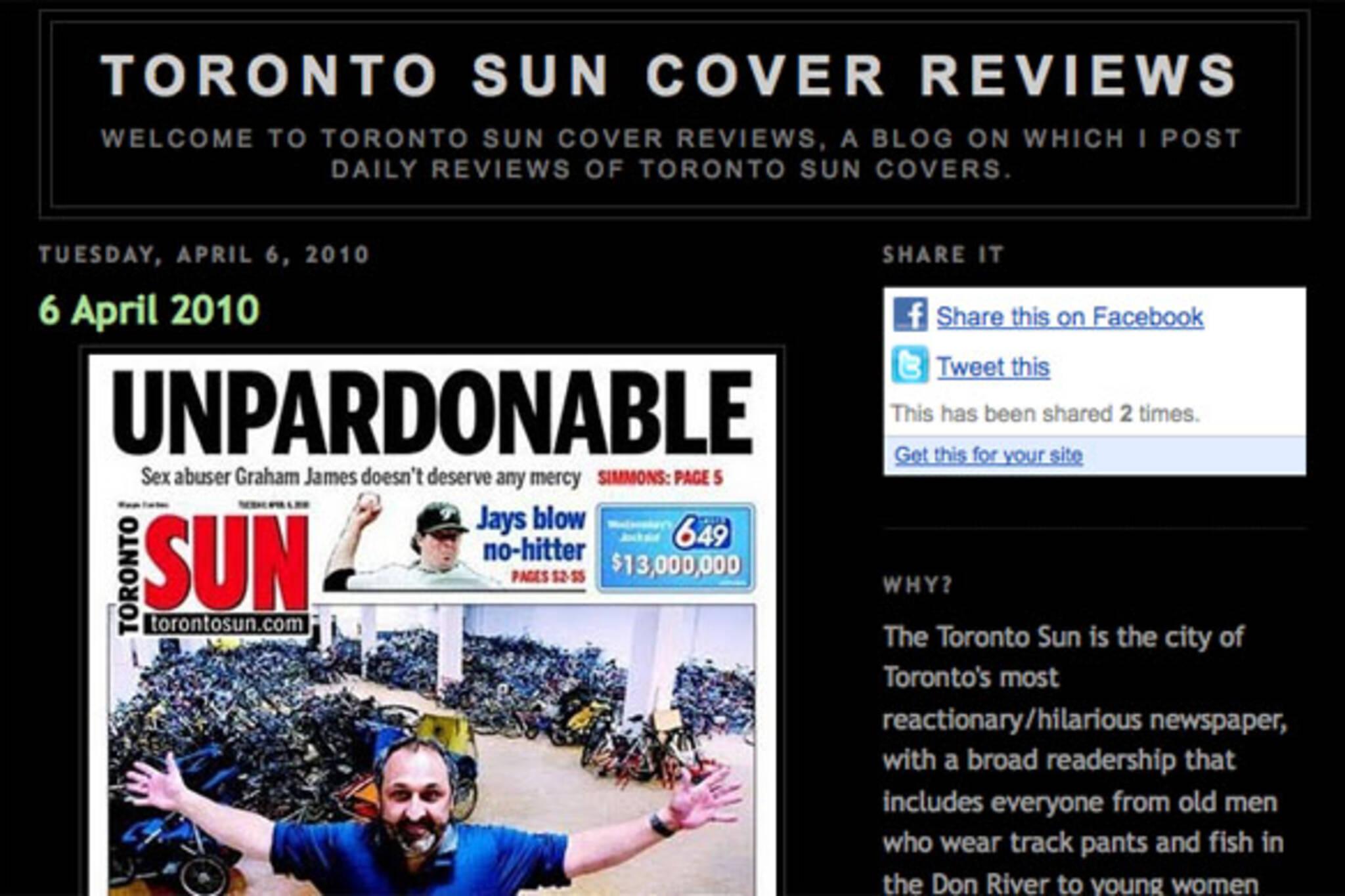 toronto sun front page