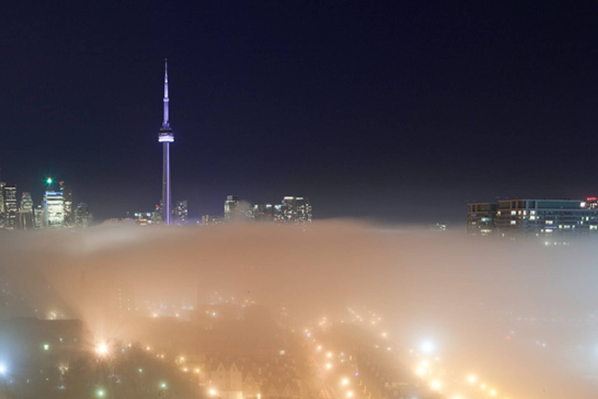low-lying fog Toronto