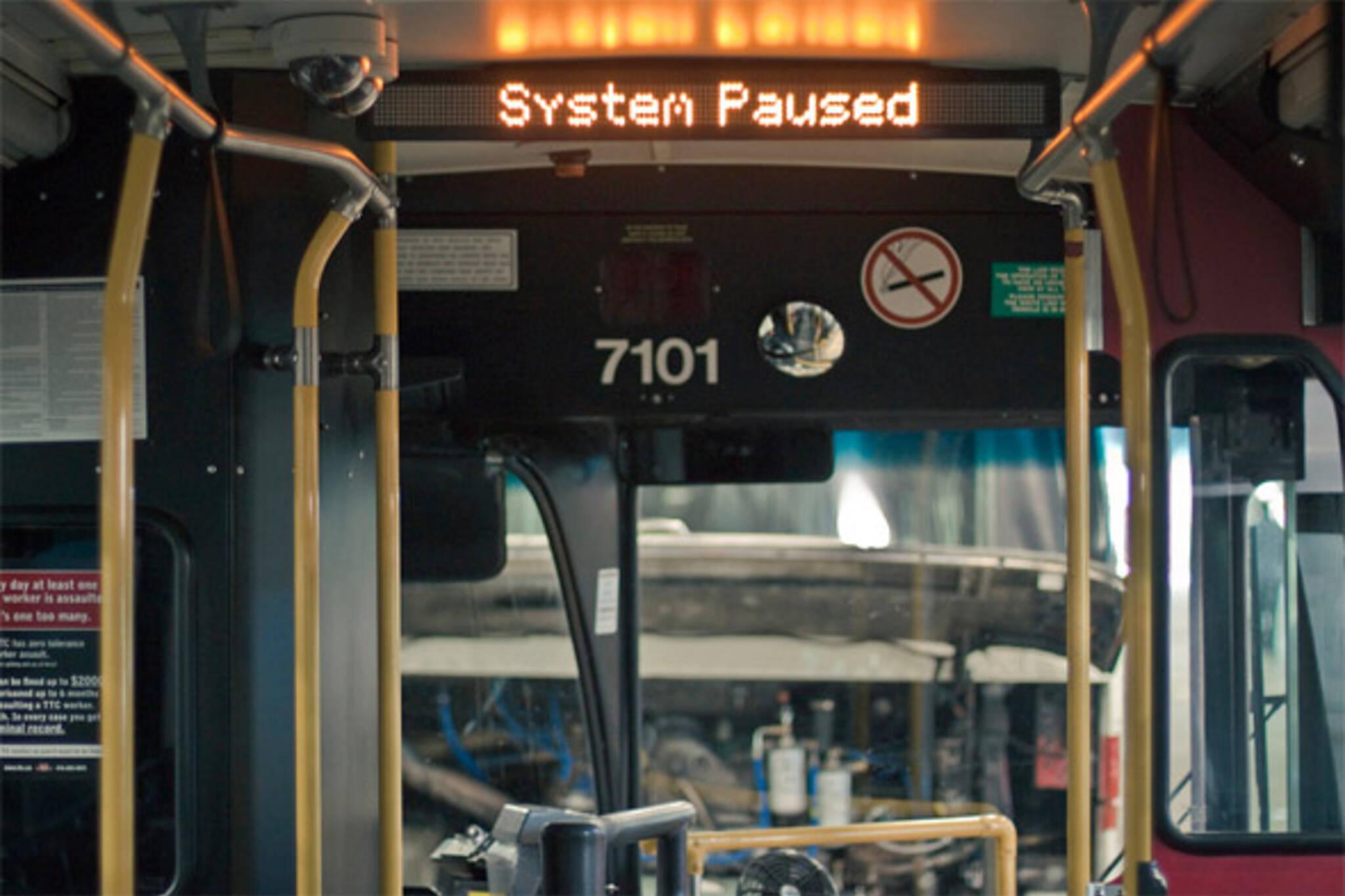 ttc idling buses