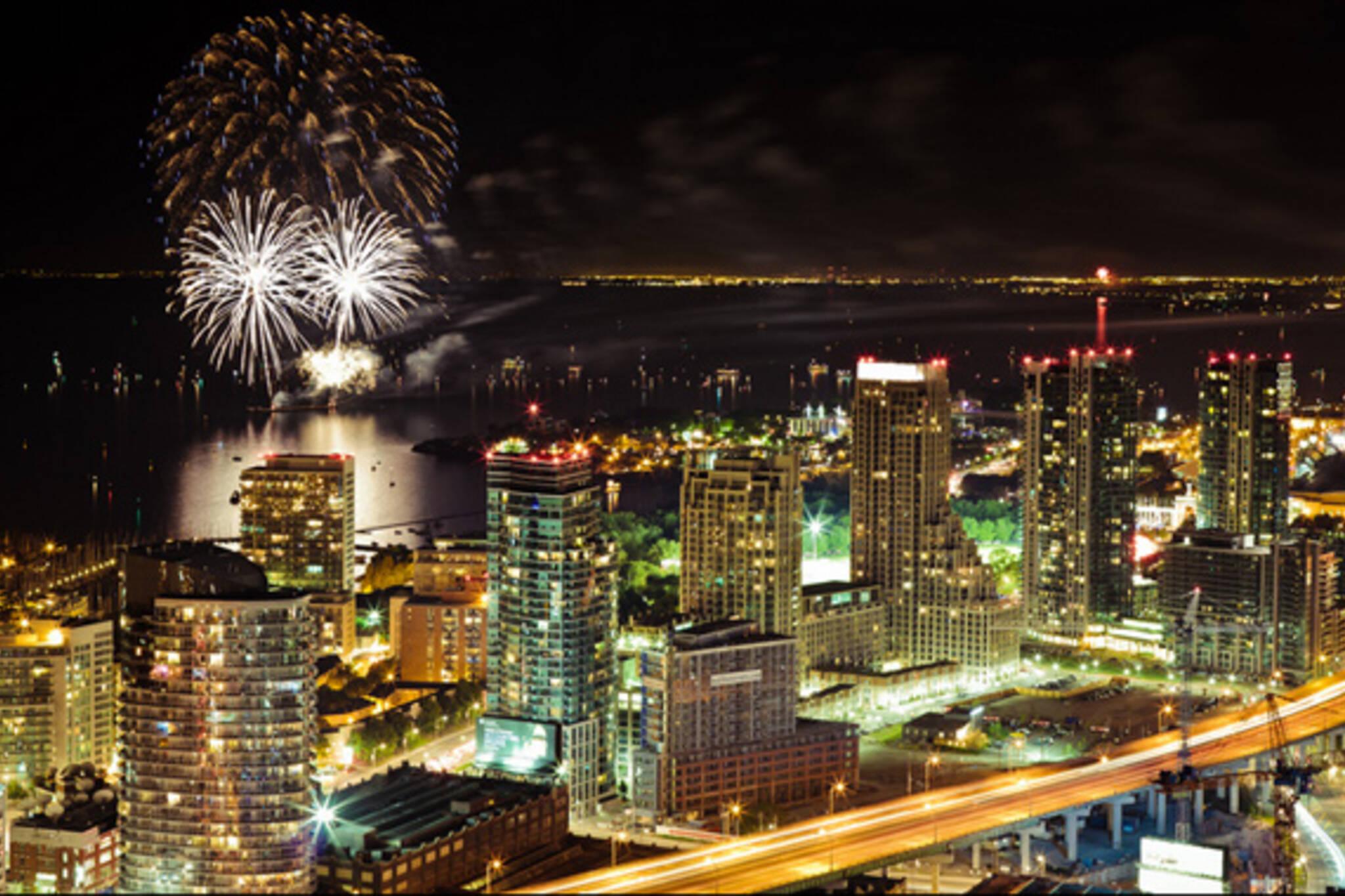 Canada Day Fireworks Toronto 2013