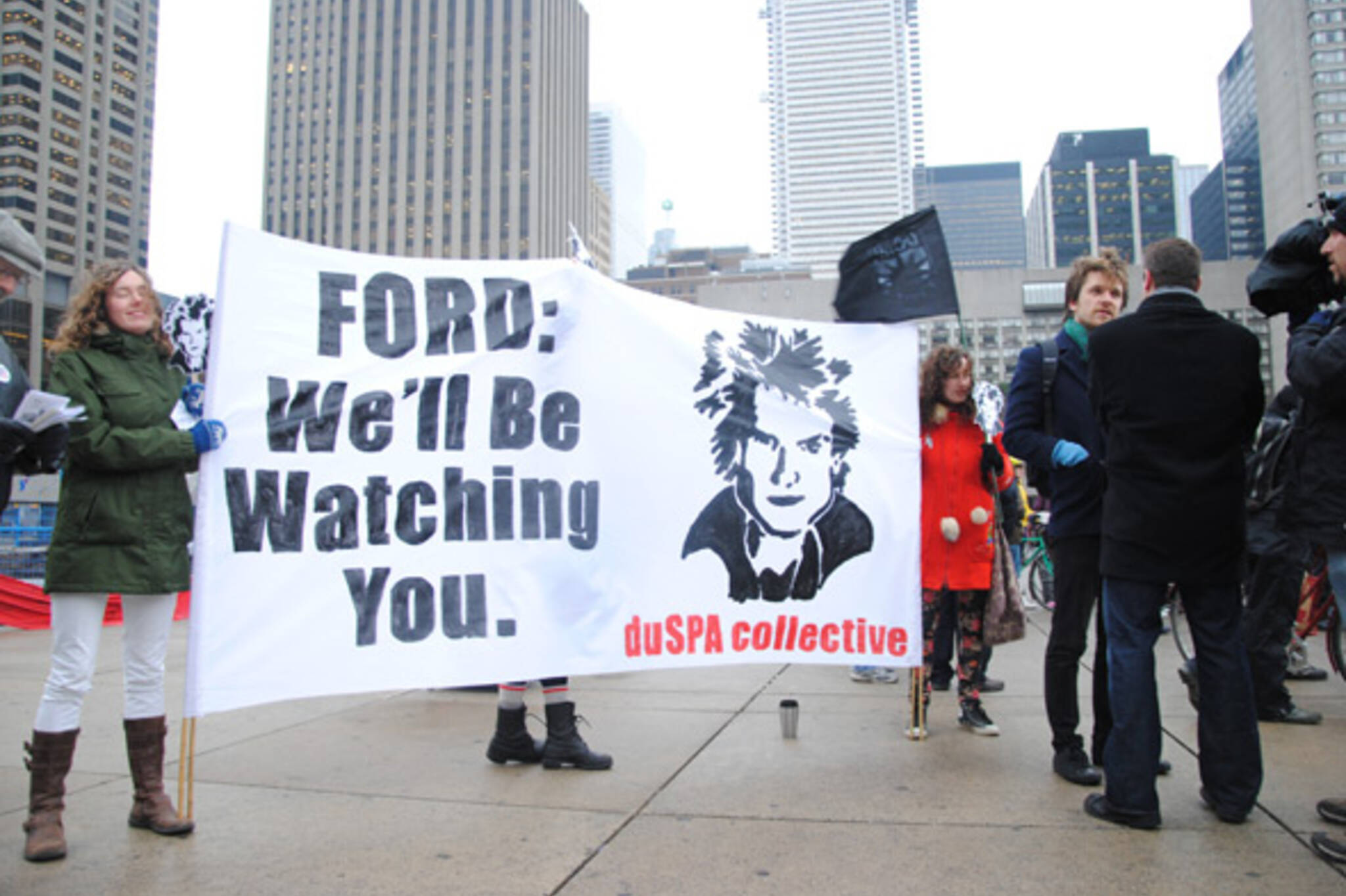 Rob Ford Protest City Hall