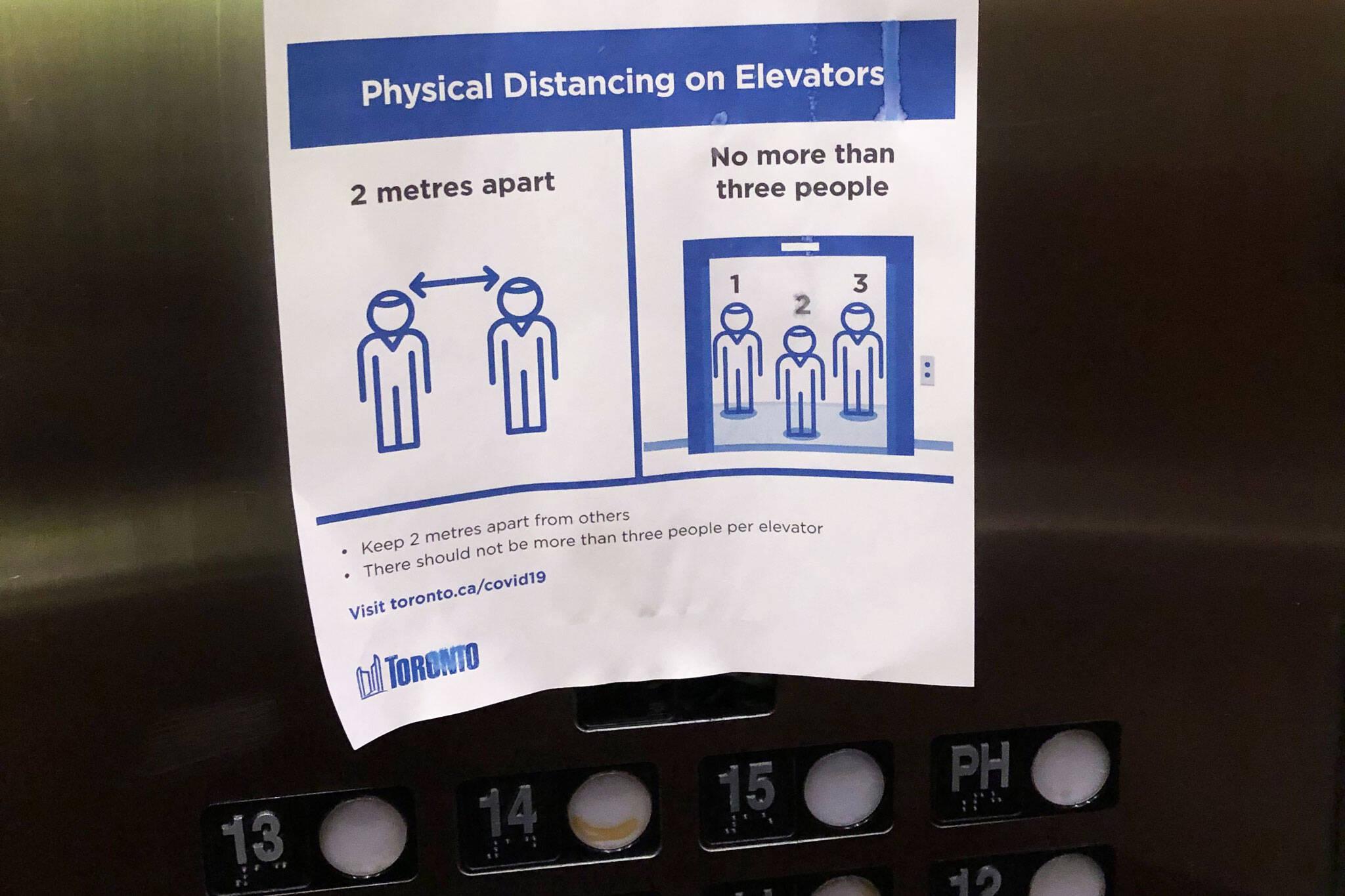 physical distancing elevators toronto